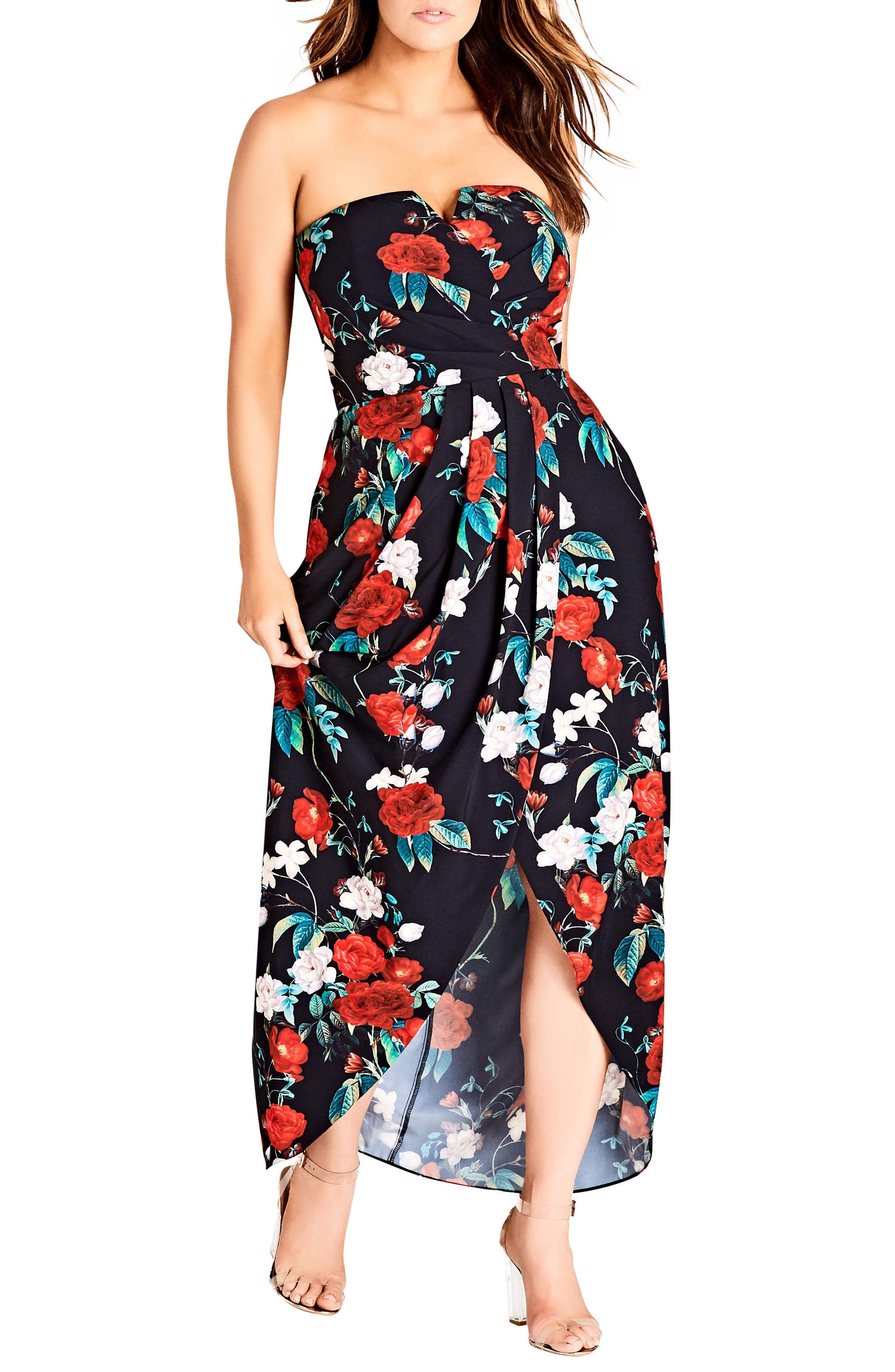 Come Hither Maxi Dress,                             Main thumbnail 1, color,                             ROSE ADORE