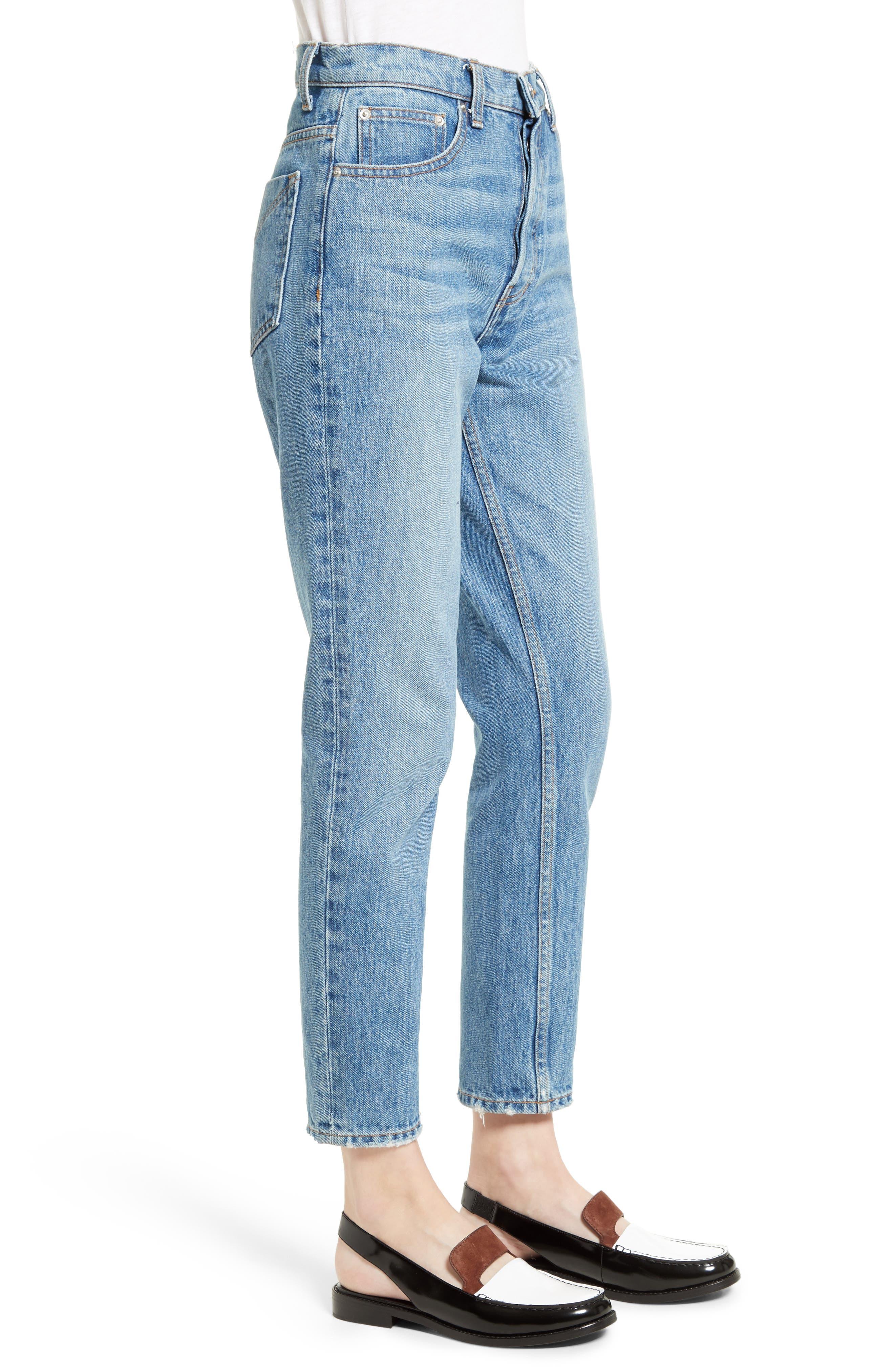 Lou High Waist Jeans,                             Alternate thumbnail 3, color,                             458