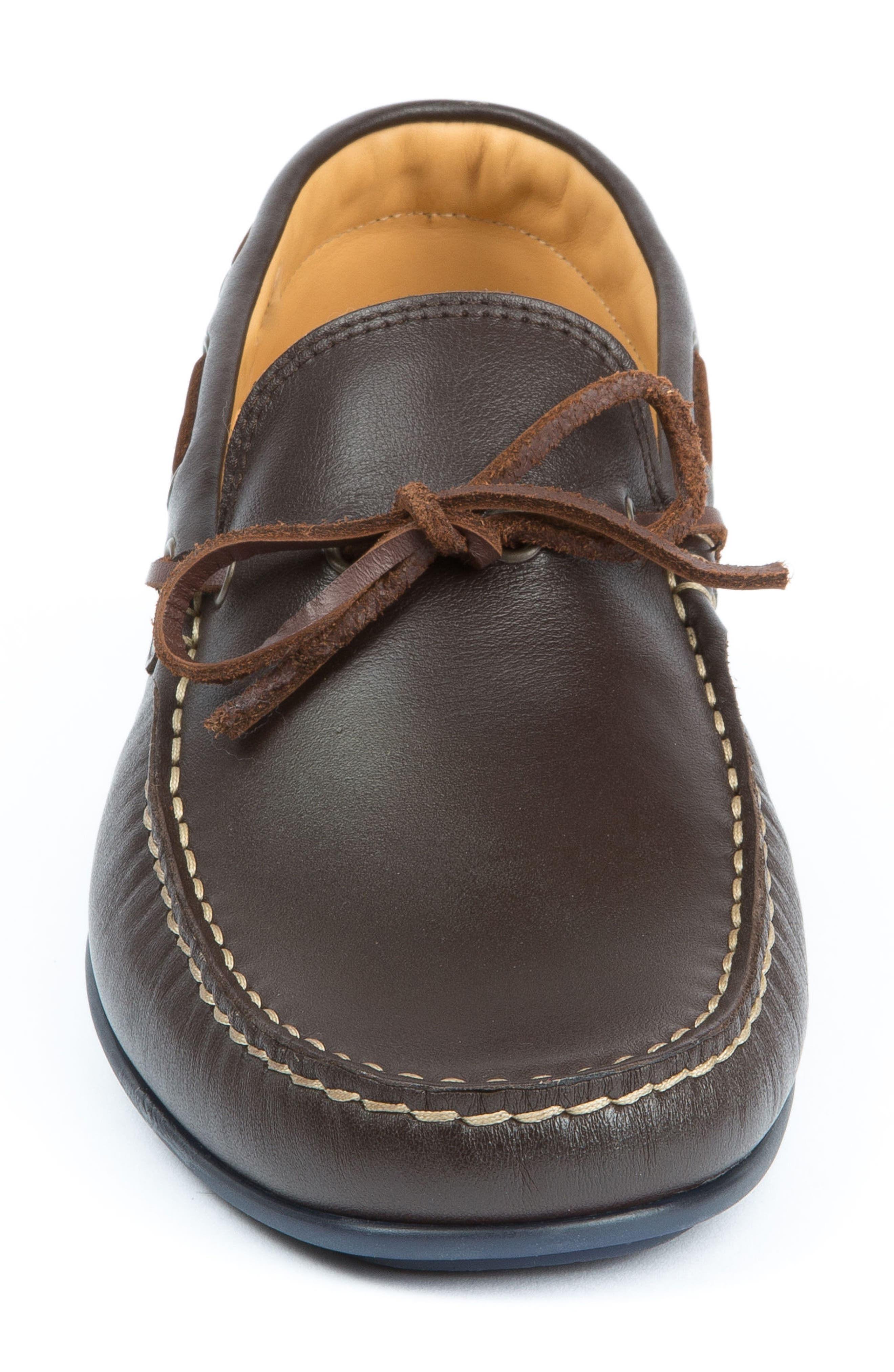 Fillmores Loafer,                             Alternate thumbnail 4, color,                             BROWN LEATHER/ NATURAL/ NAVY
