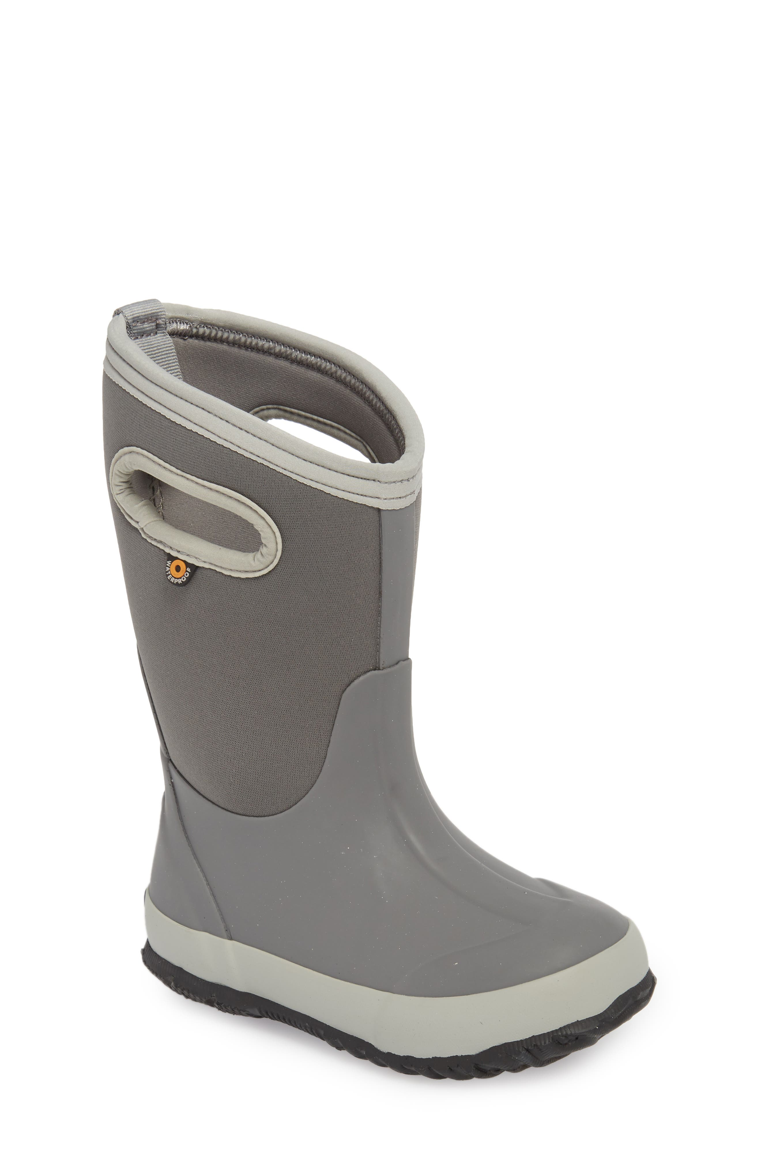 Classic Solid Insulated Boot,                             Main thumbnail 1, color,                             LIGHT GRAY