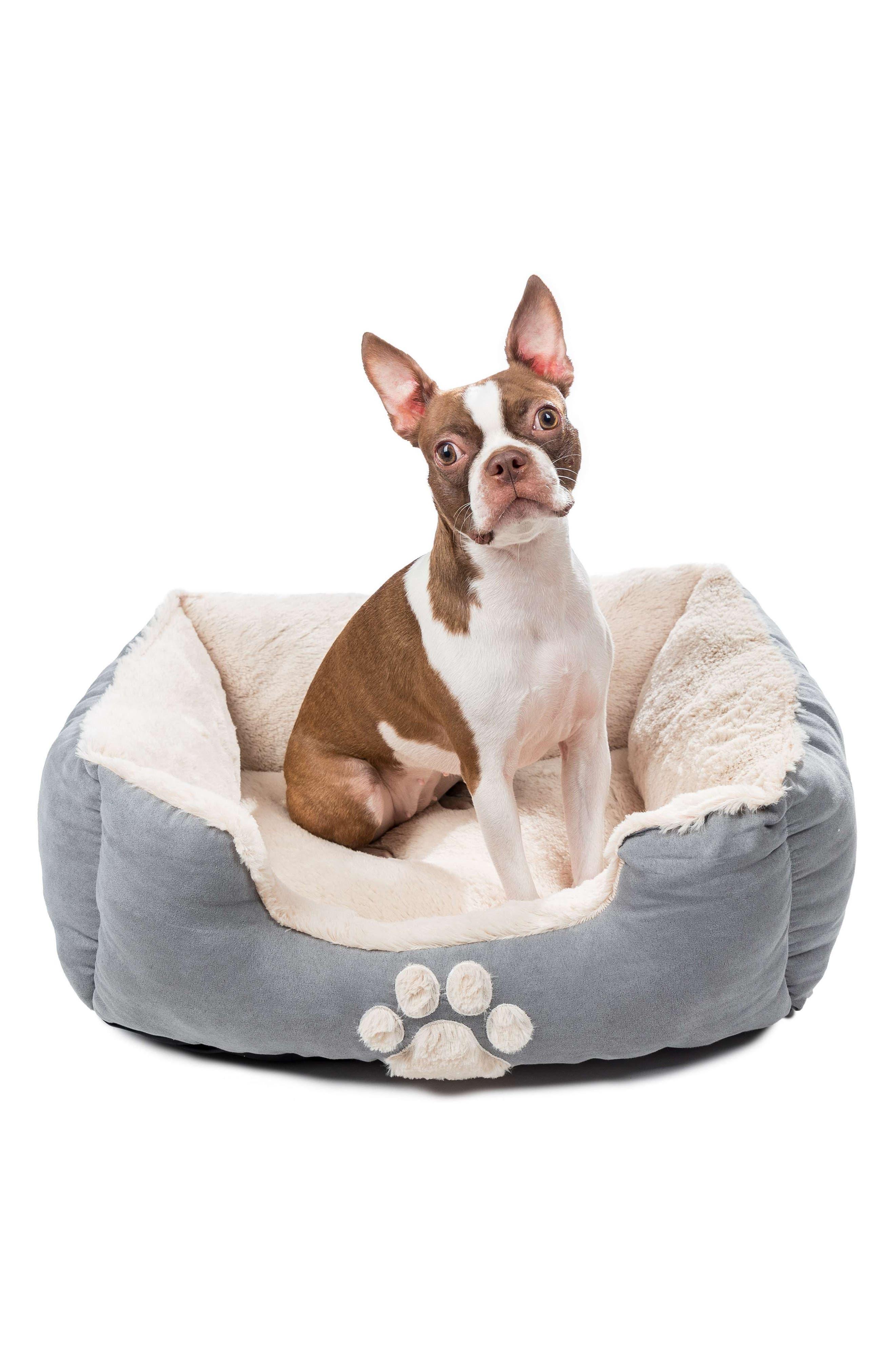 Roxi Square Pet Bed,                             Alternate thumbnail 3, color,                             SLATE BLUE