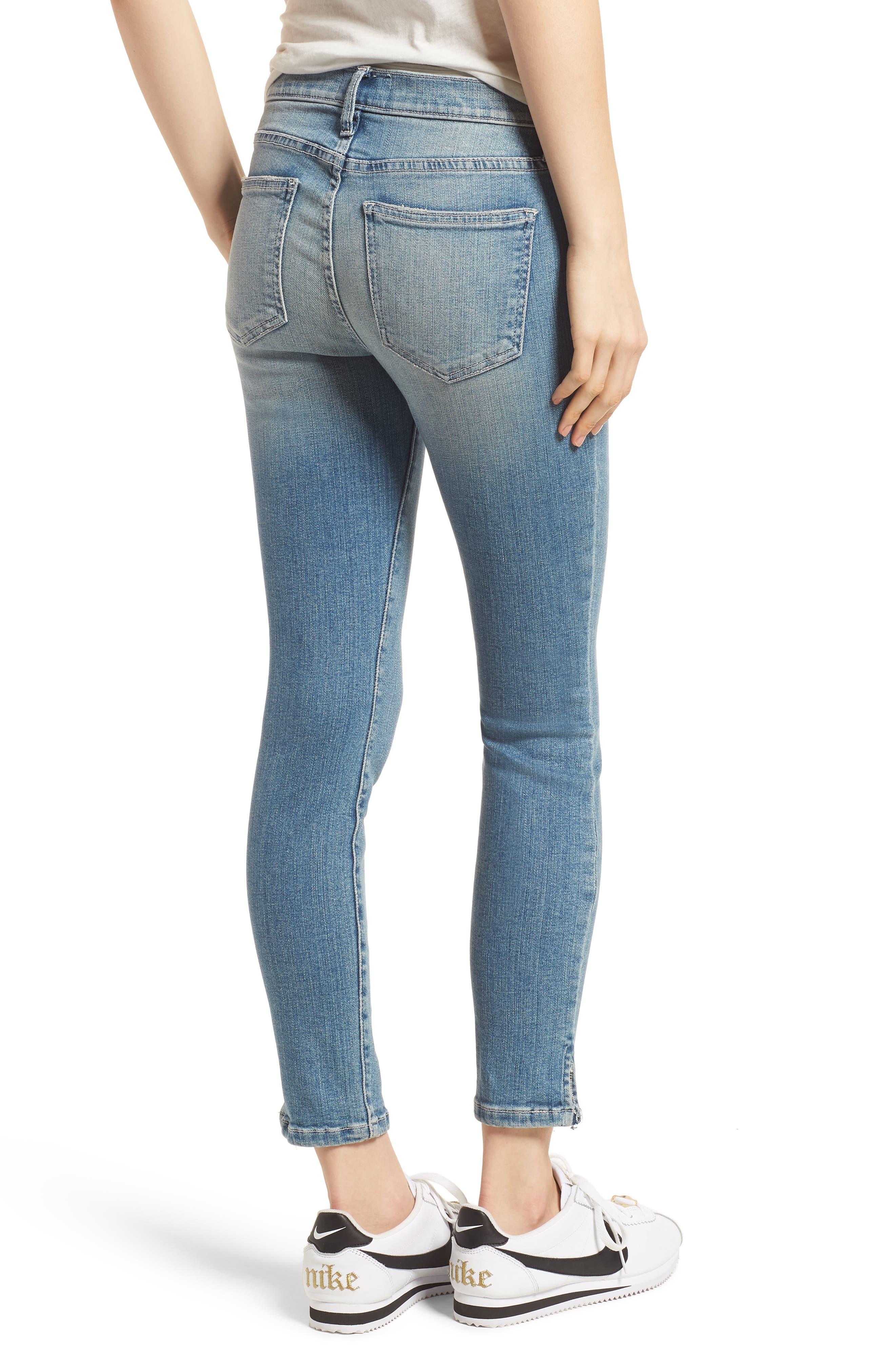 The Stiletto Vent Hem Skinny Jeans,                             Alternate thumbnail 2, color,                             474