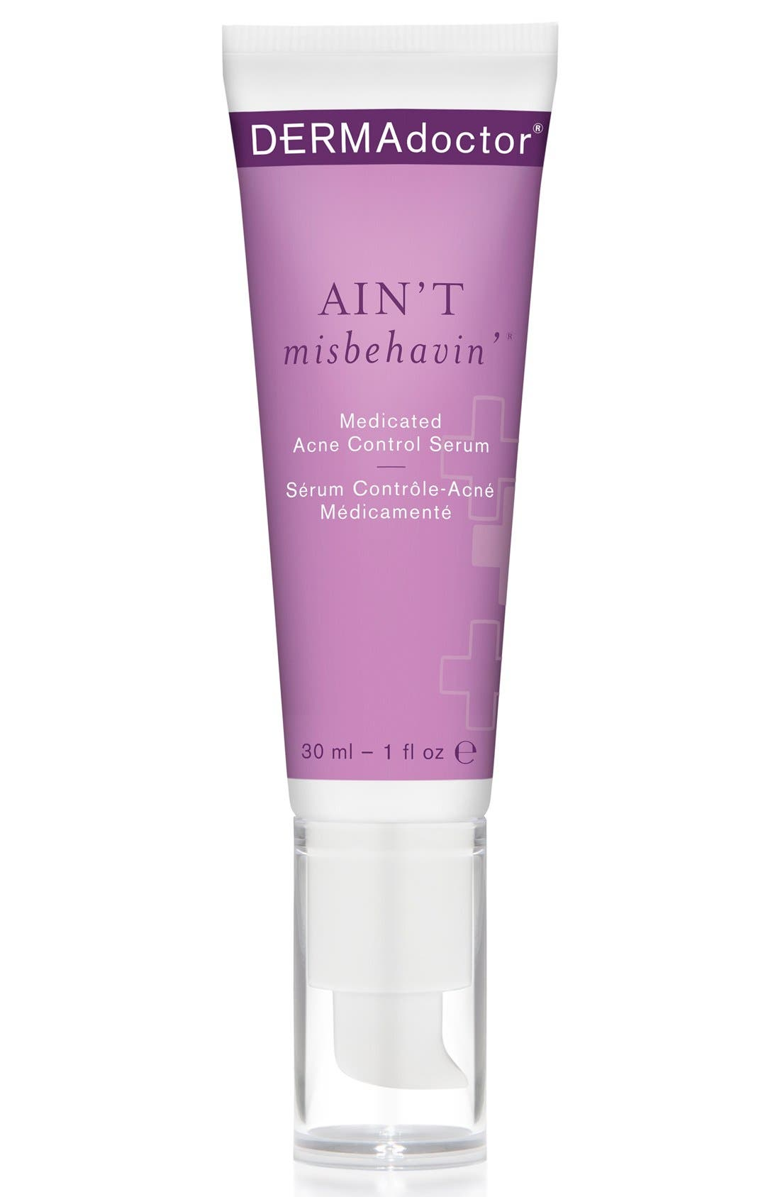 'AIN'T misbehavin'<sup>™</sup>' Medicated Acne Control Serum,                             Main thumbnail 1, color,                             000