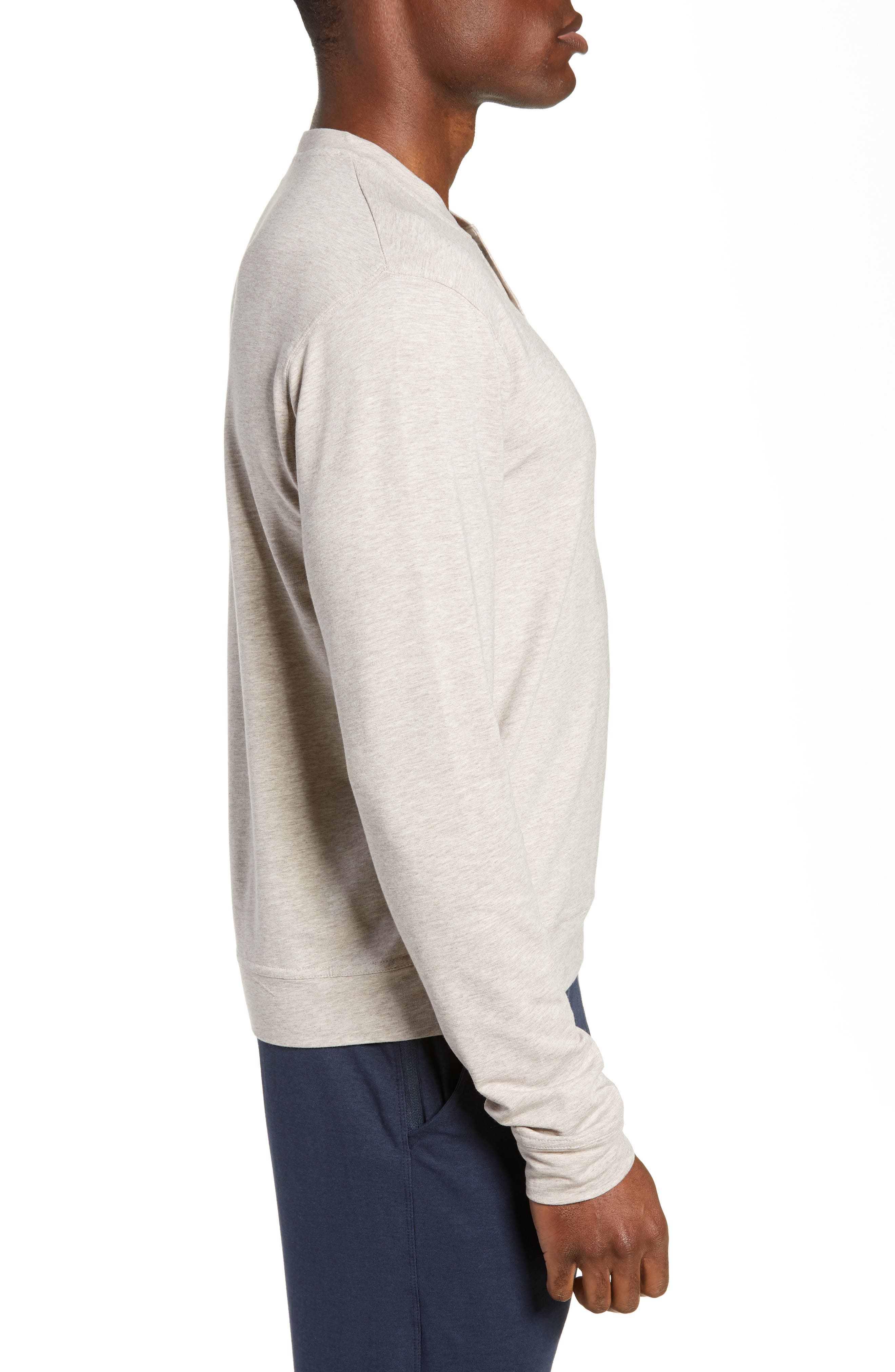 Legacy Heathered Henley,                             Alternate thumbnail 3, color,                             CRATER HEATHER
