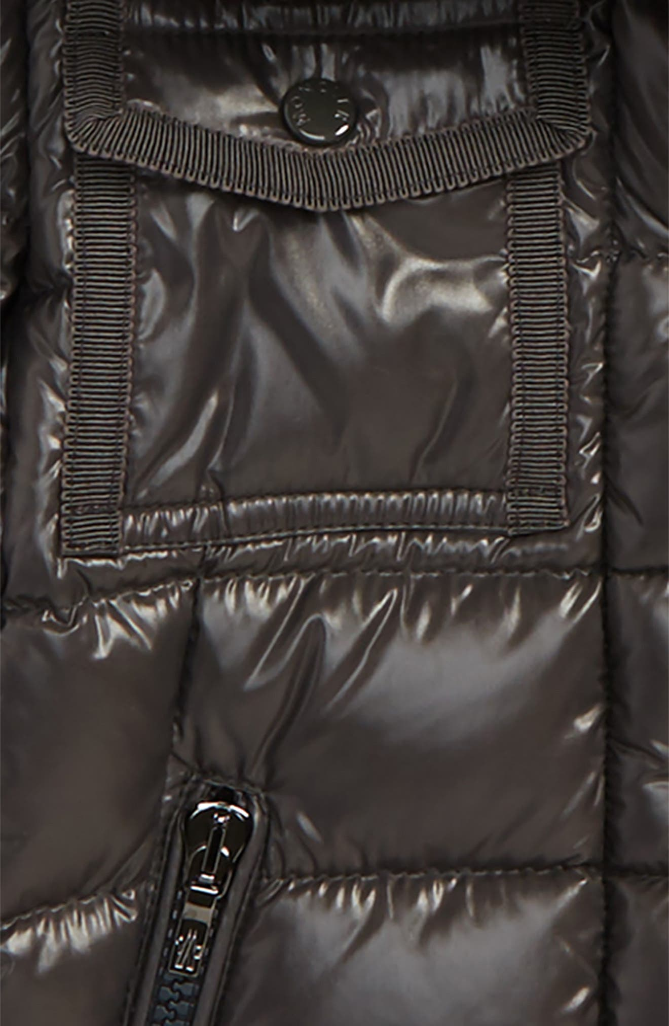 Armoise Hooded Jacket with Genuine Fox Fur Trim,                             Alternate thumbnail 2, color,                             020