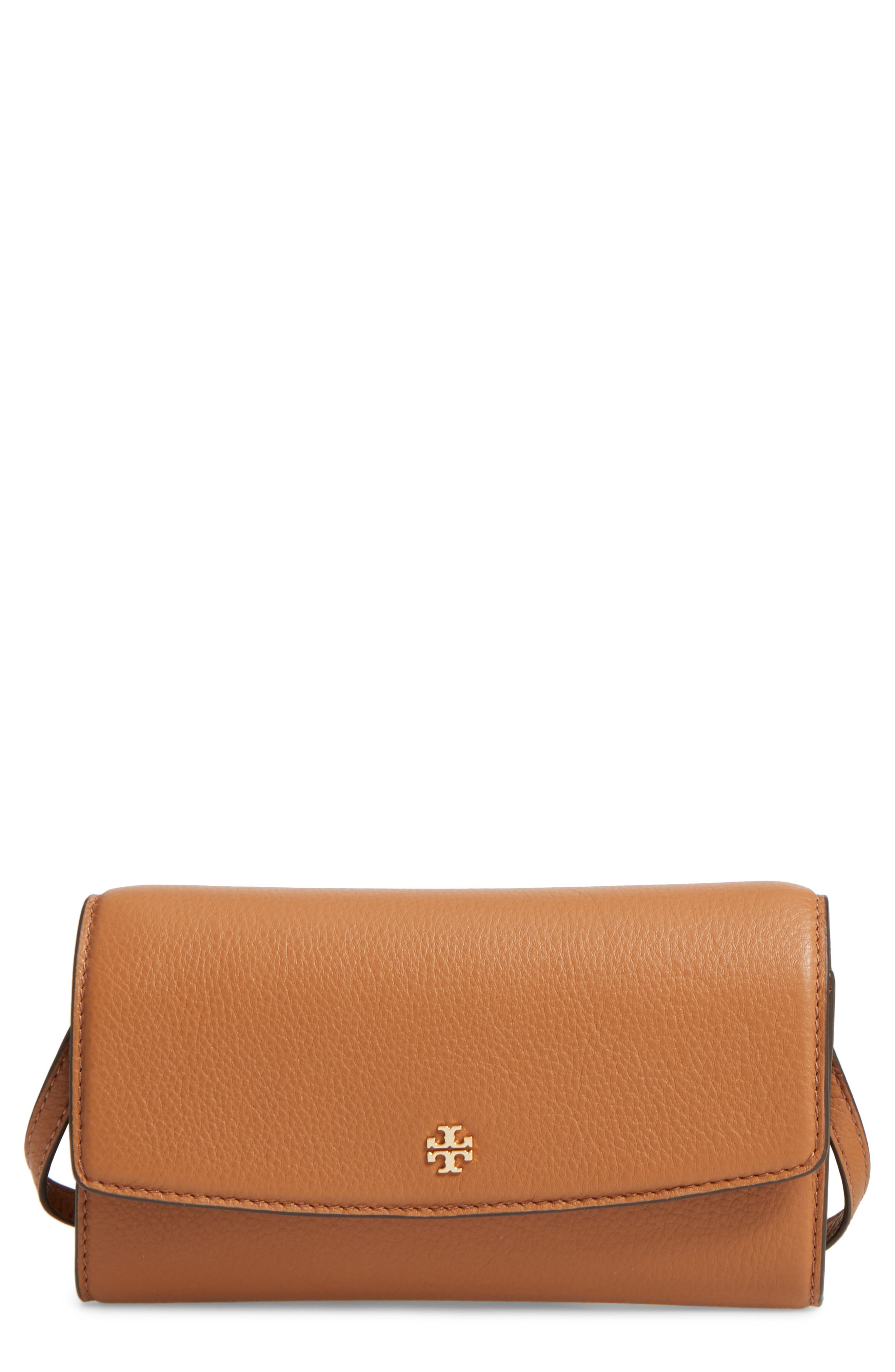 Leather Wallet Crossbody Bag,                         Main,                         color, 209