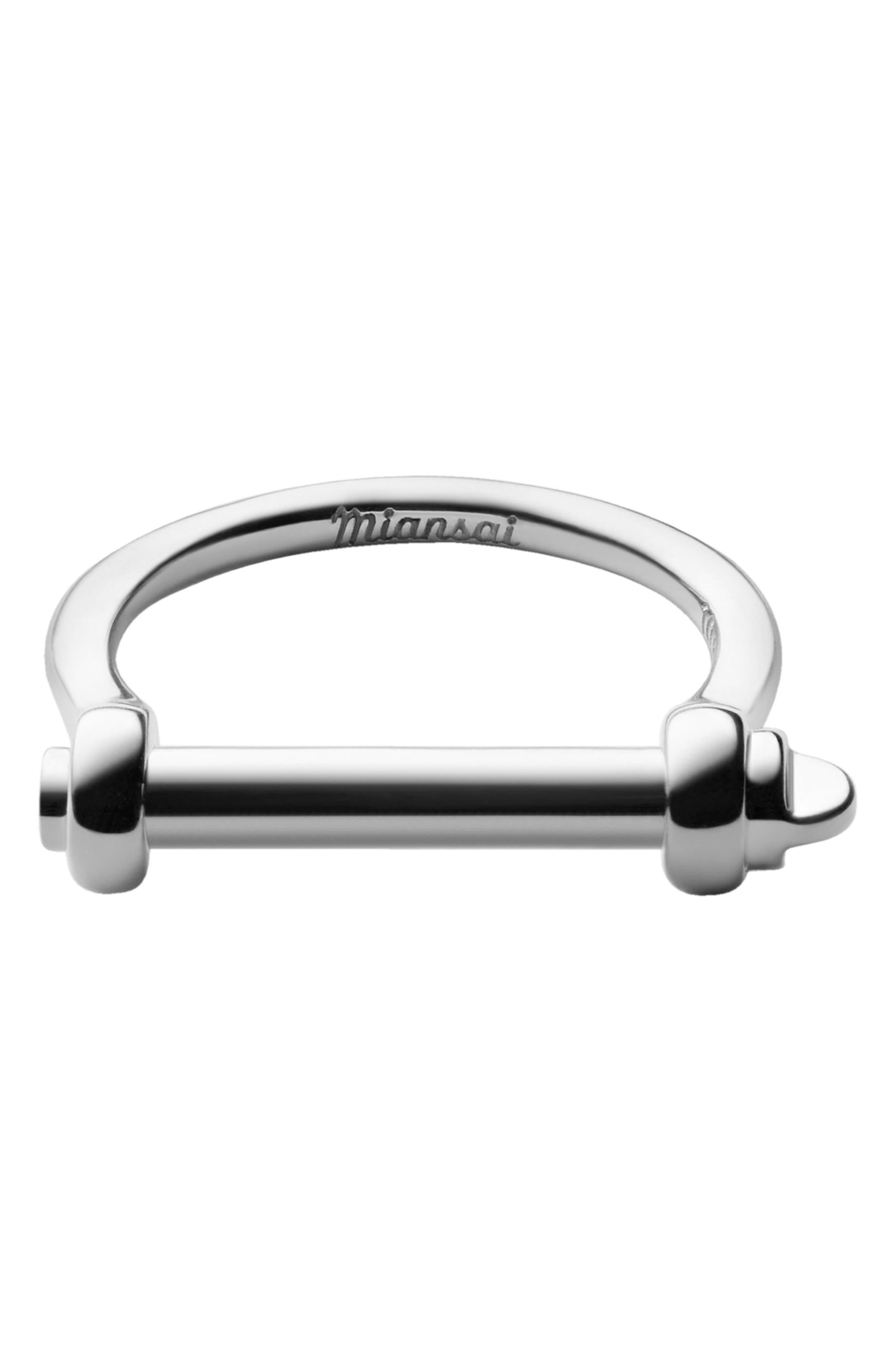 Thin Screw Cuff Ring,                             Main thumbnail 1, color,                             040