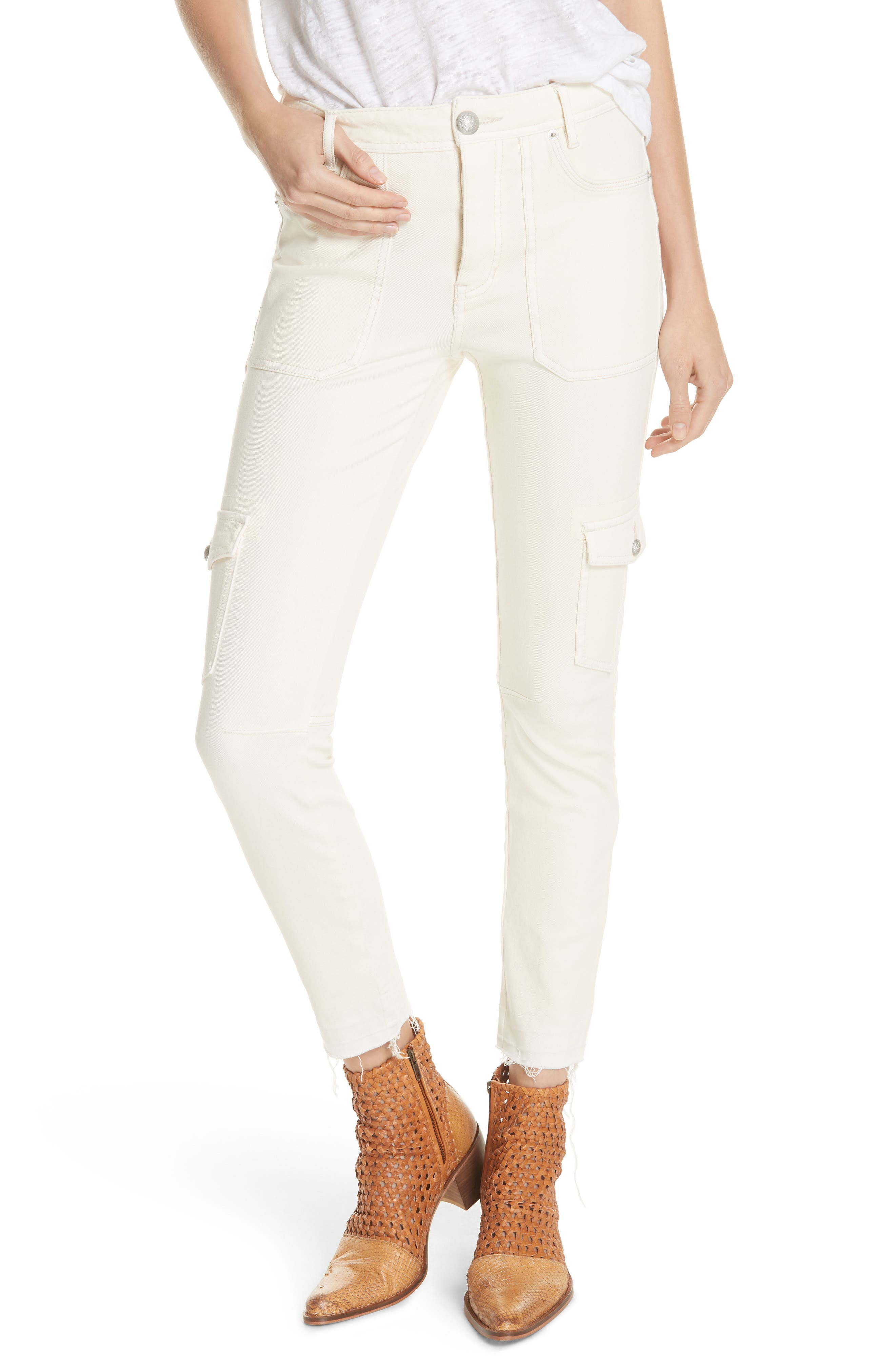FREE PEOPLE Utility Skinny Jeans, Main, color, 252