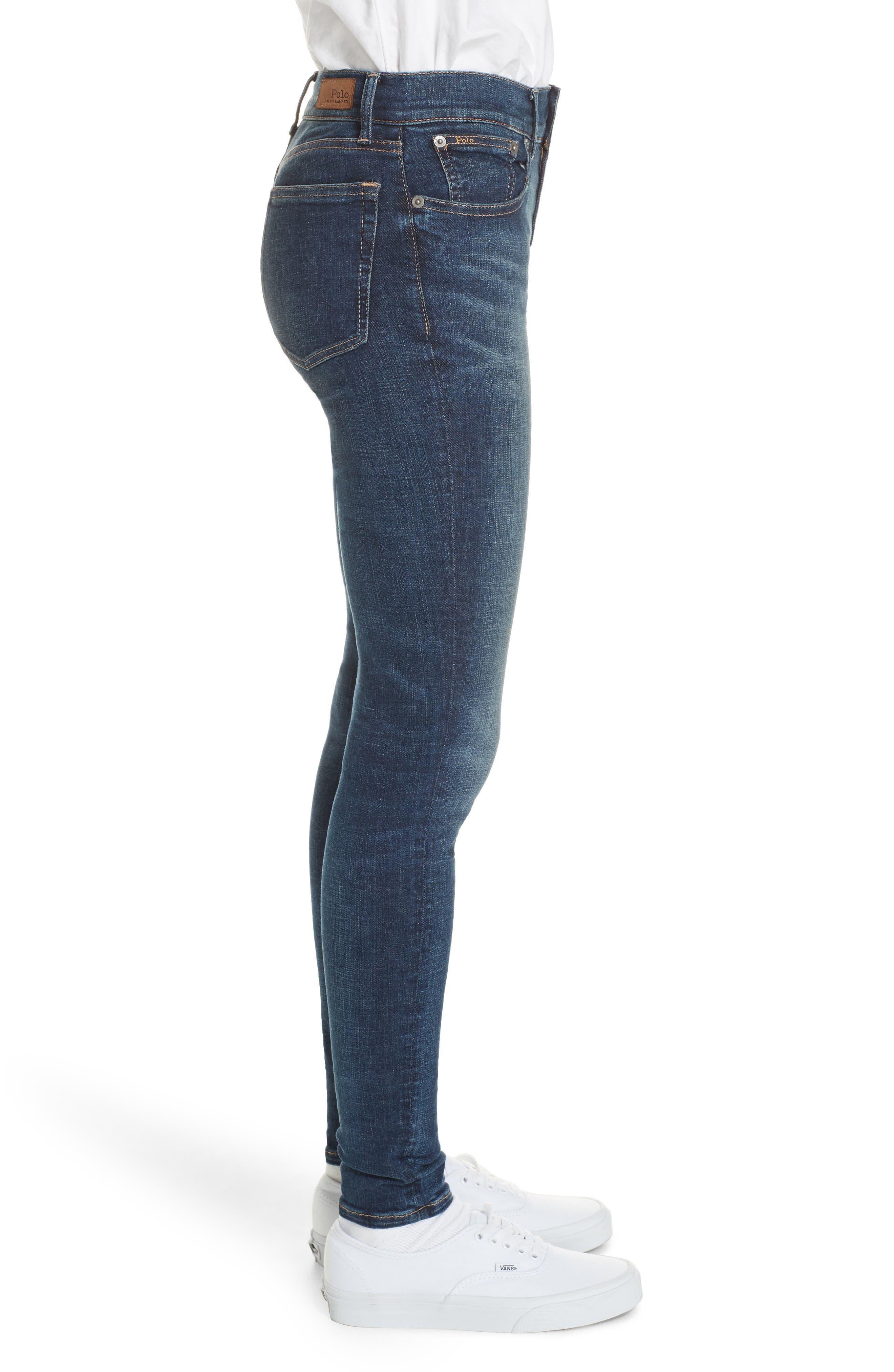 Super Skinny Jeans,                             Alternate thumbnail 3, color,                             DARK INDIGO