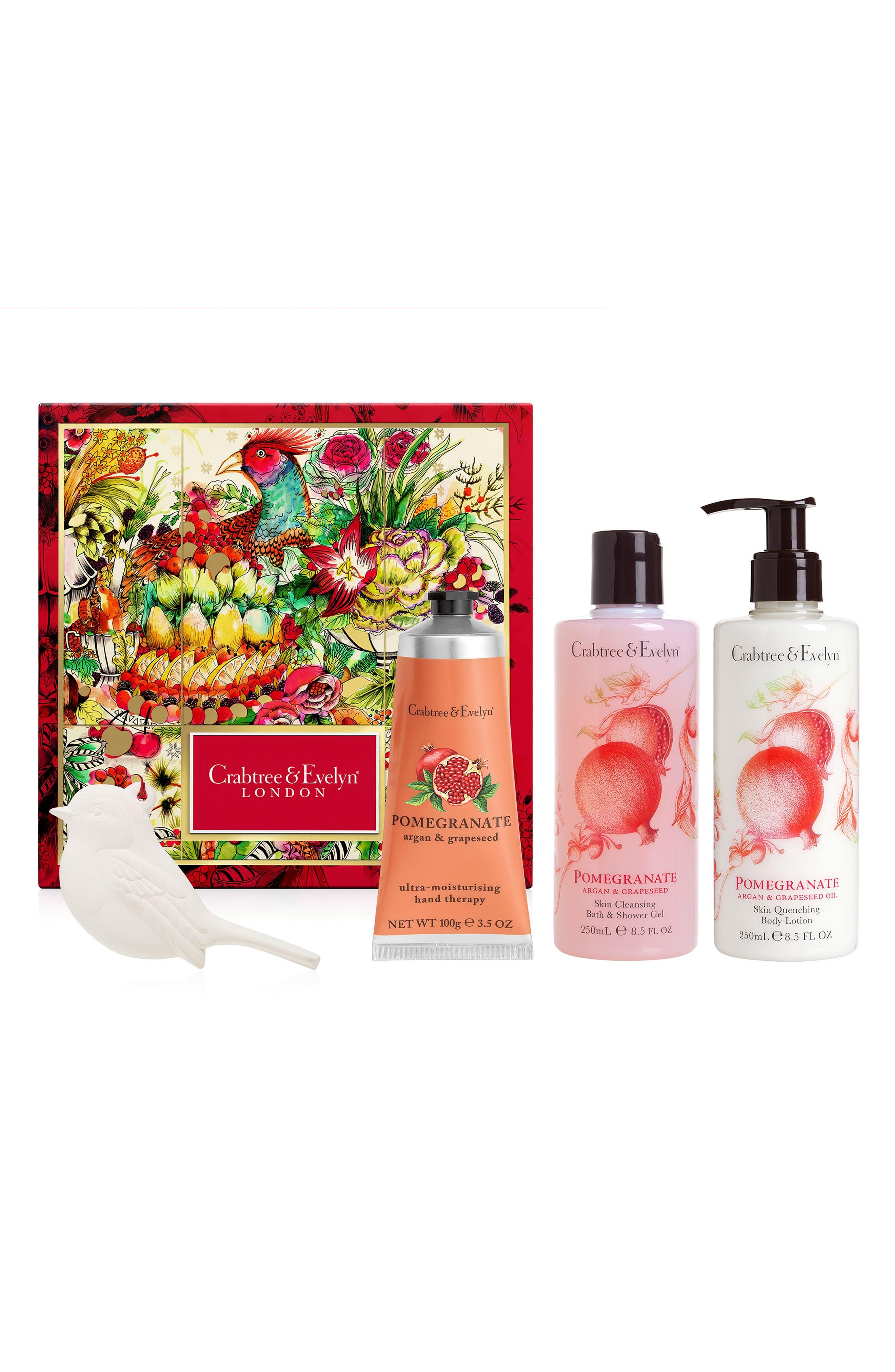 Pomegranate, Argan & Grapeseed Set,                             Main thumbnail 1, color,                             000