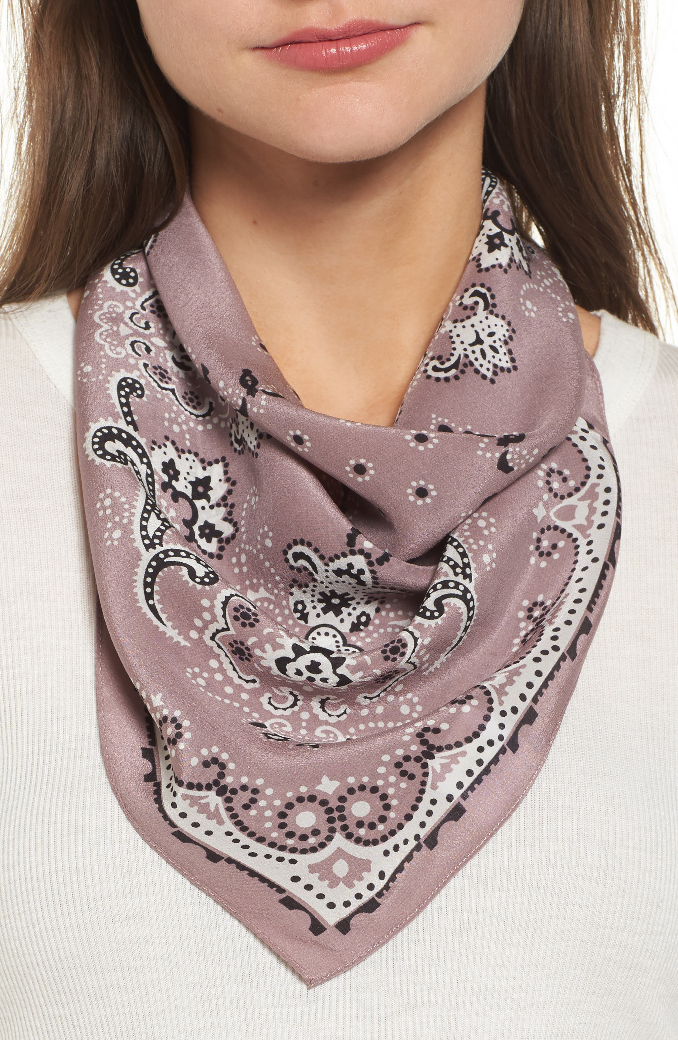 Silk Bandana,                             Main thumbnail 5, color,