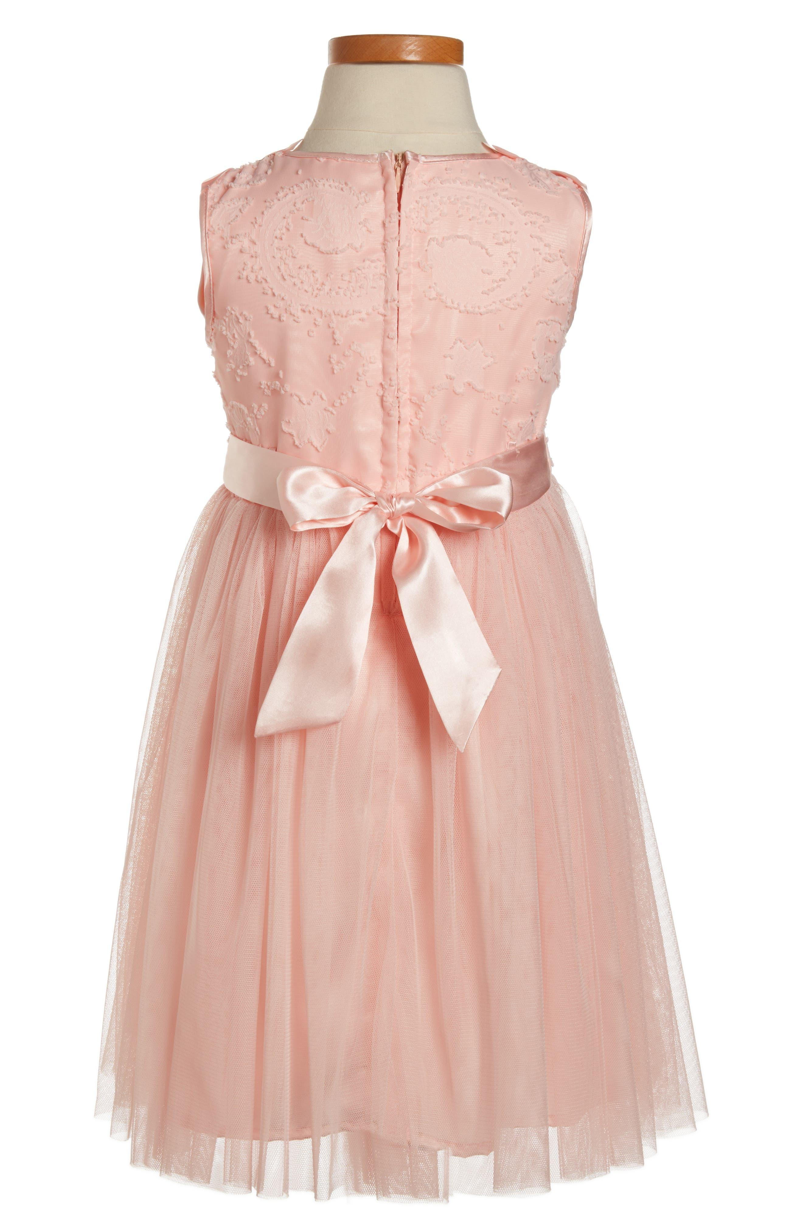 Butterfly Dress,                             Alternate thumbnail 2, color,                             PEACH