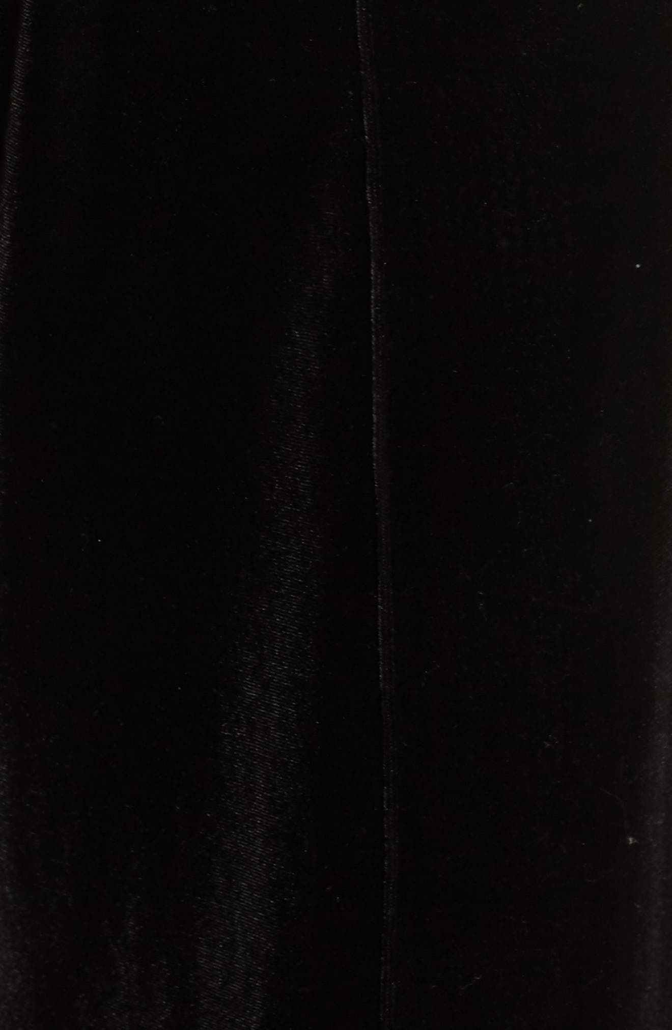Dream Away Velour Lounge Pants,                             Alternate thumbnail 5, color,                             BLACK