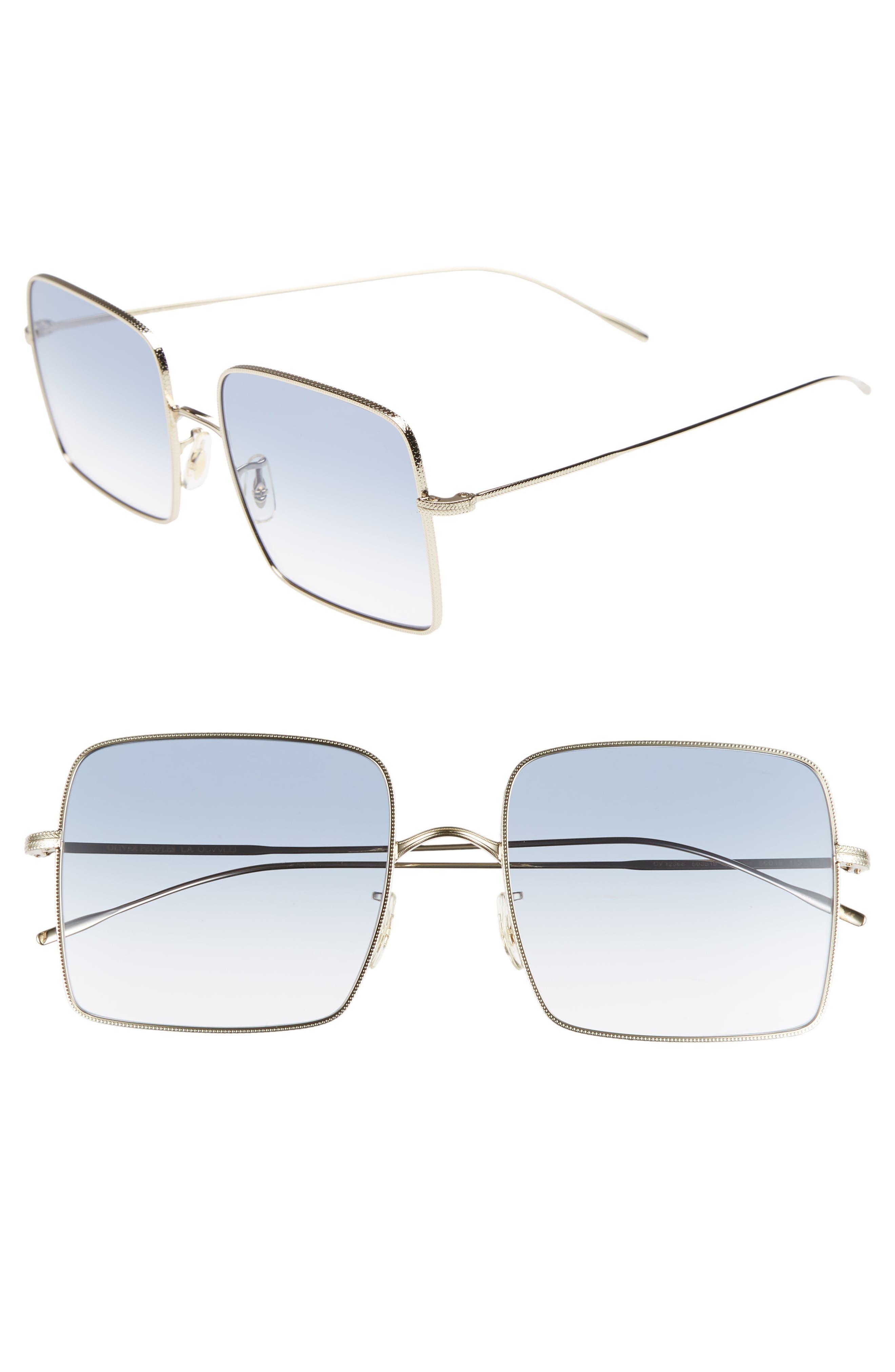 Rassine 56mm Sunglasses,                             Main thumbnail 1, color,                             SOFT GOLD BLUE