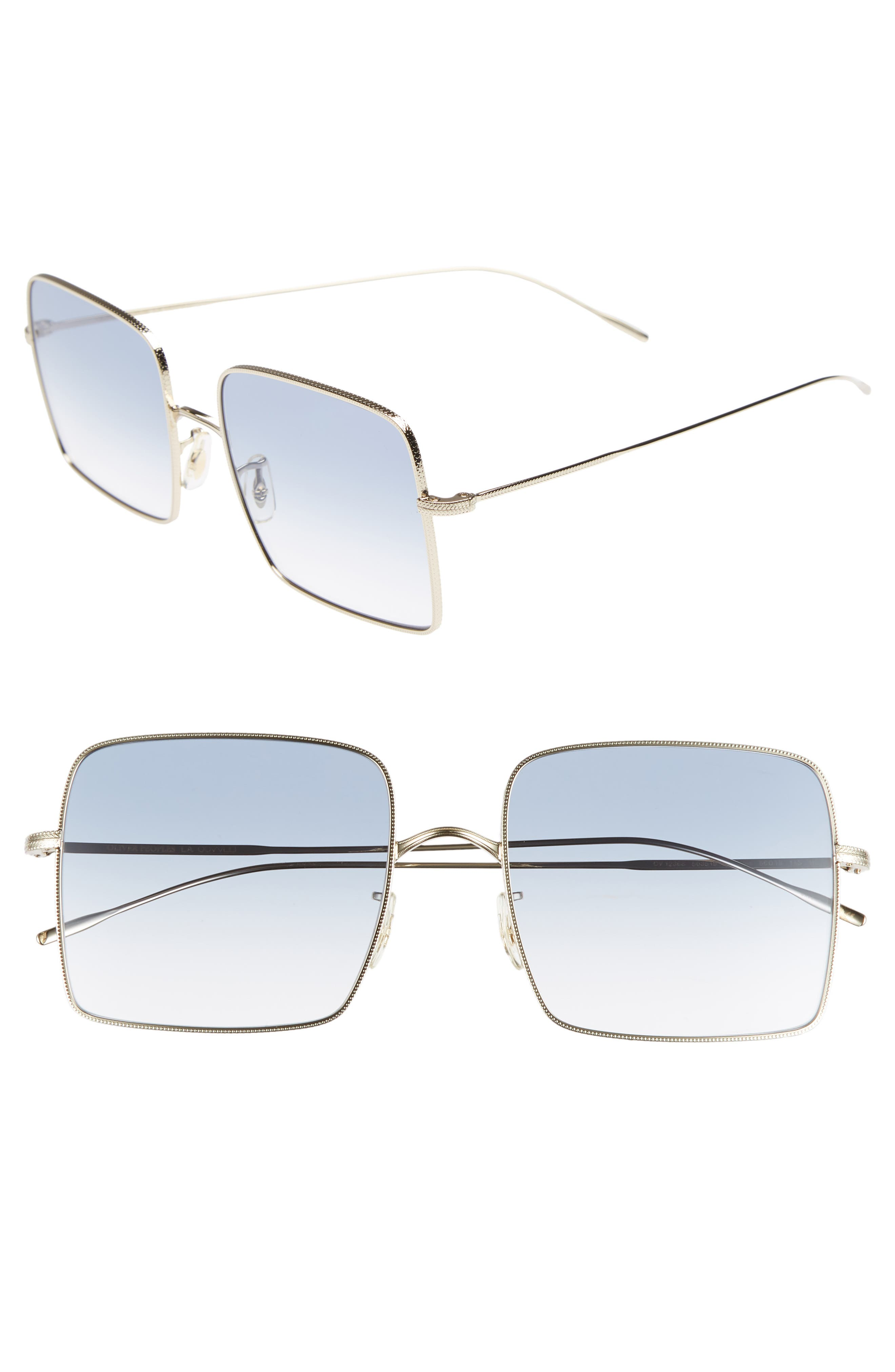 Rassine 56mm Sunglasses,                         Main,                         color, SOFT GOLD BLUE