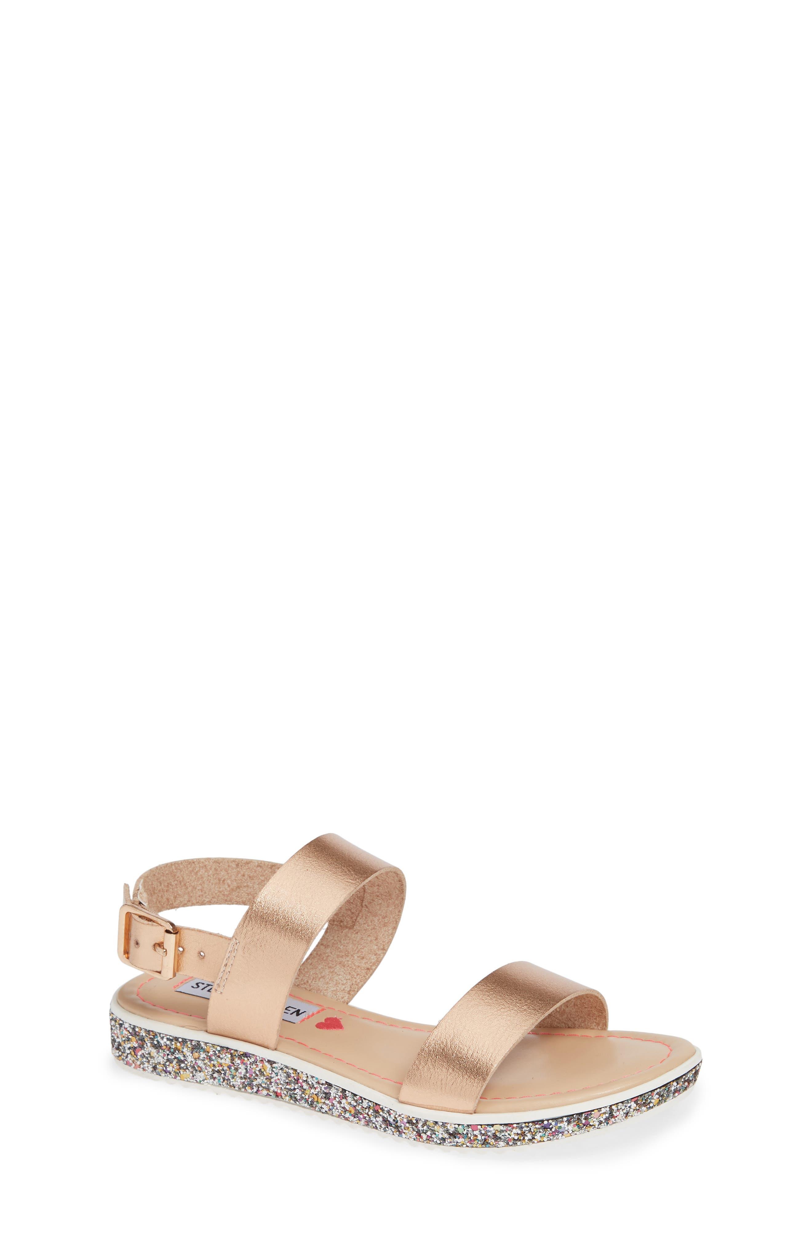 Gia Glitter Sandal,                         Main,                         color, ROSE GOLD