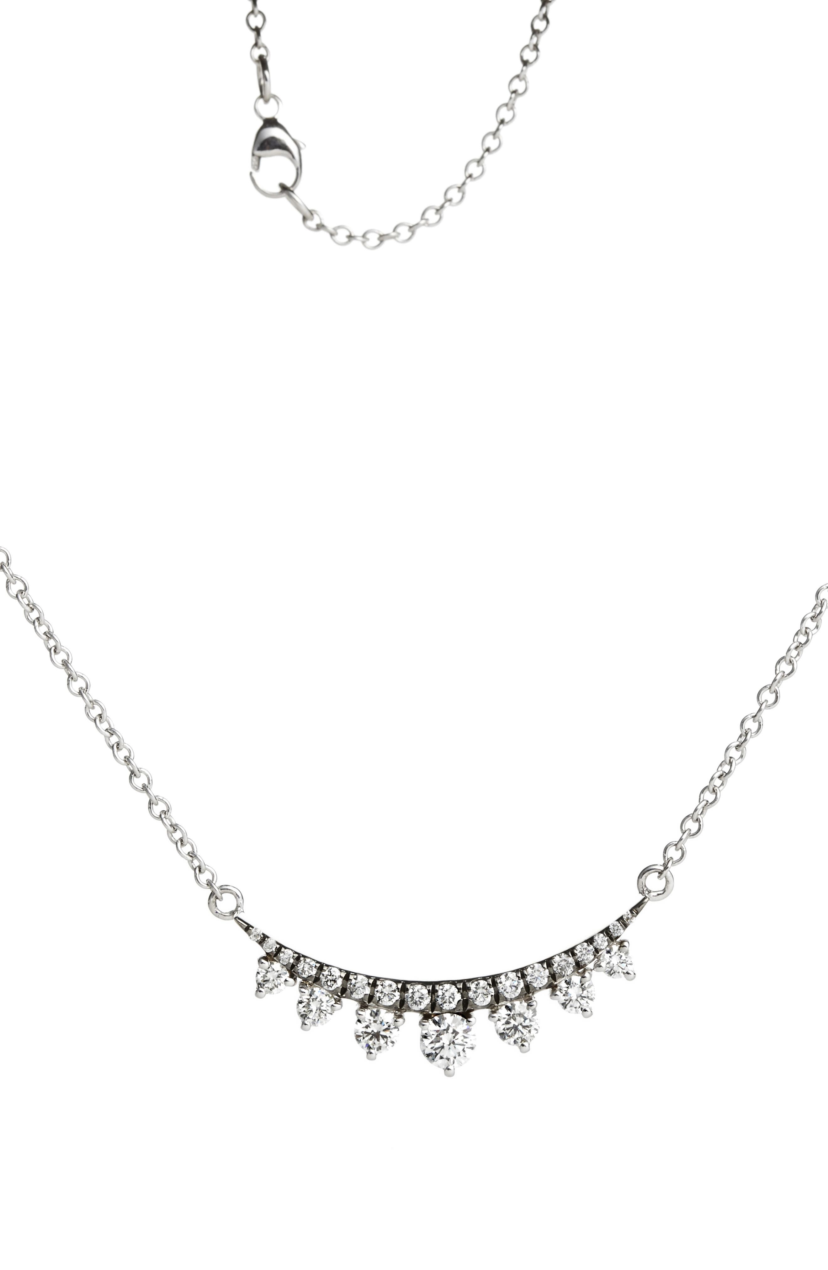 Prive Luxe 18K White Gold & Diamond Necklace,                             Main thumbnail 1, color,                             710