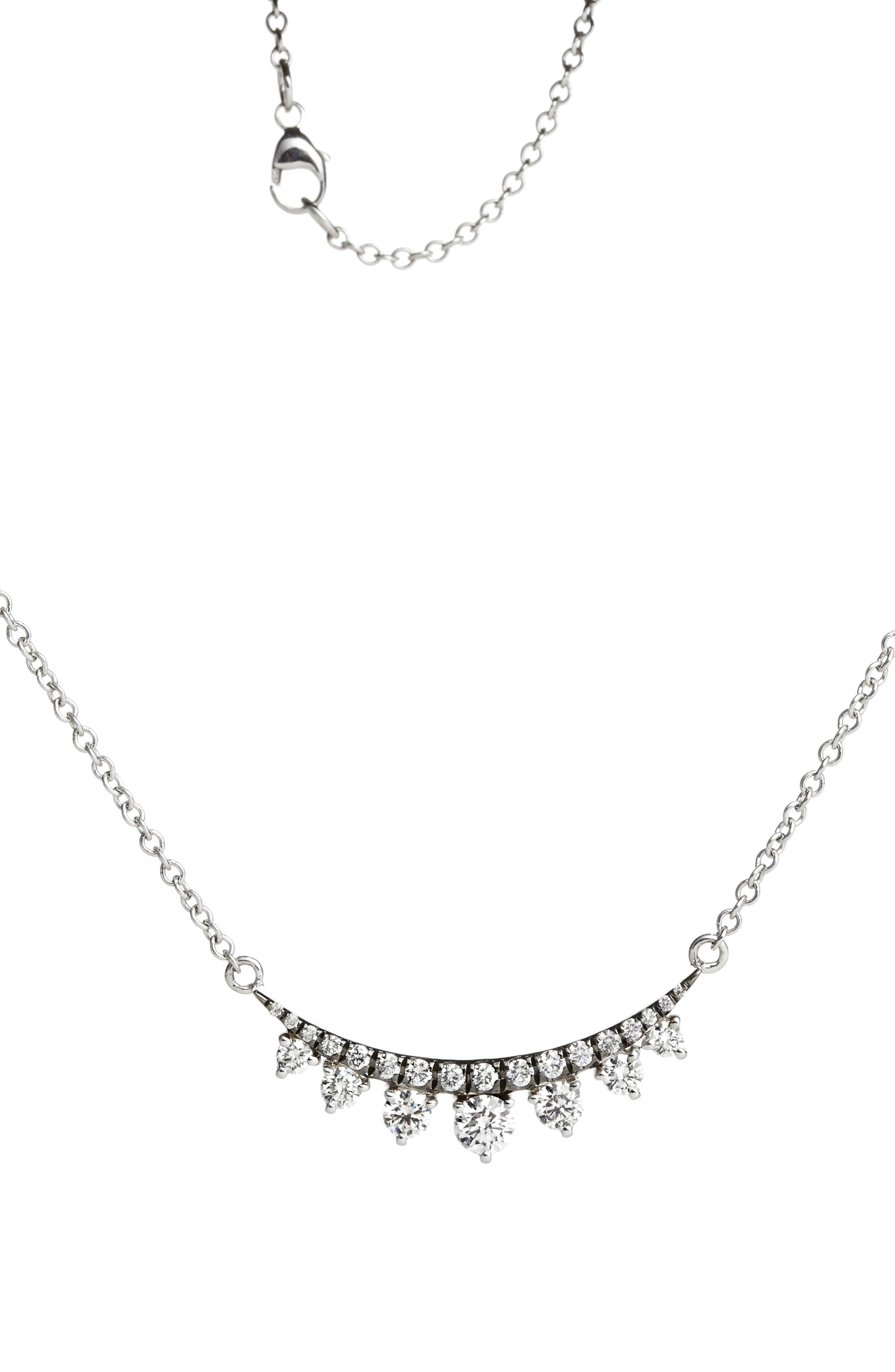 Prive Luxe 18K White Gold & Diamond Necklace,                         Main,                         color, 710