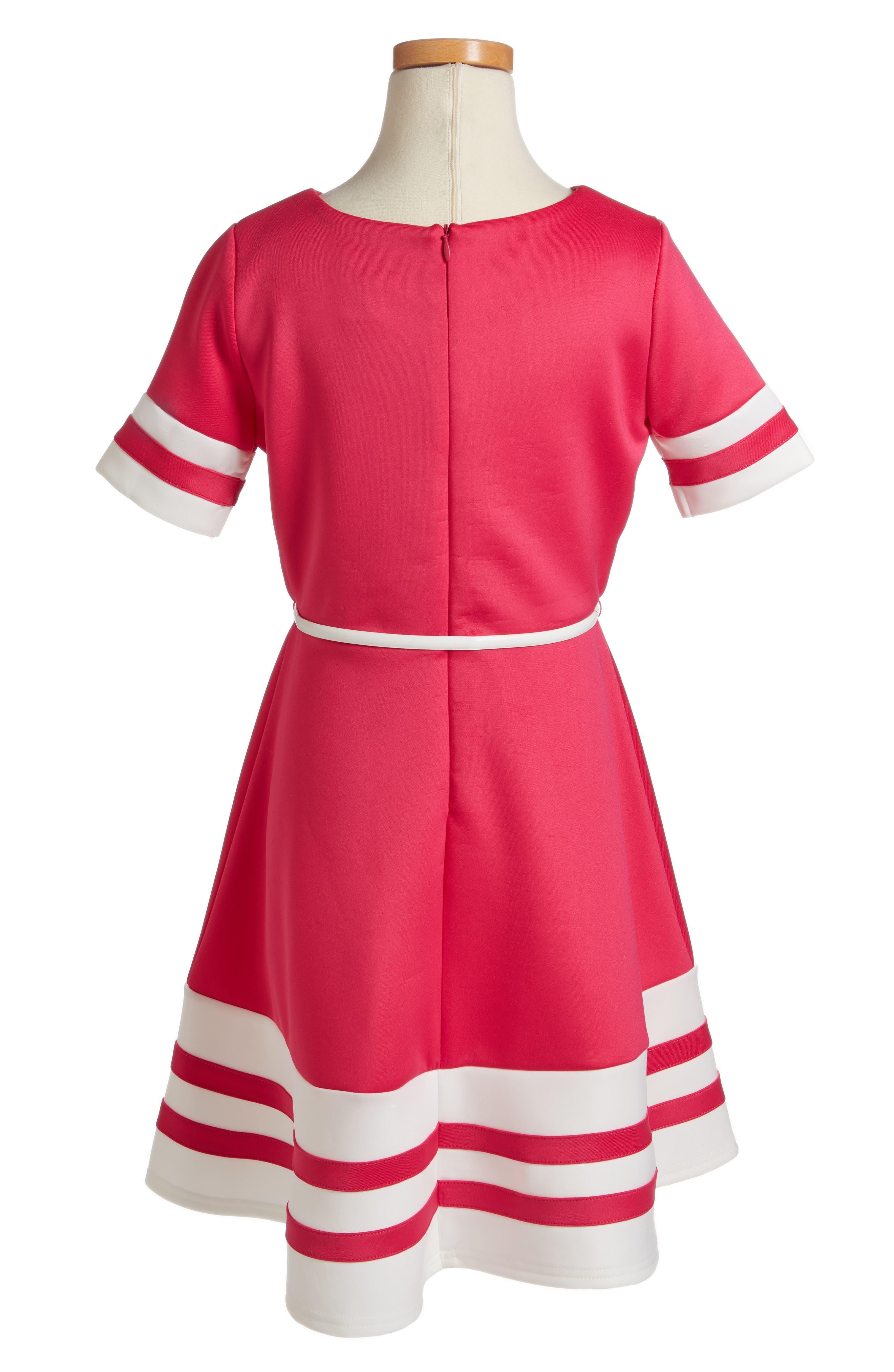 Scuba Fit & Flare Dress,                             Alternate thumbnail 2, color,                             652