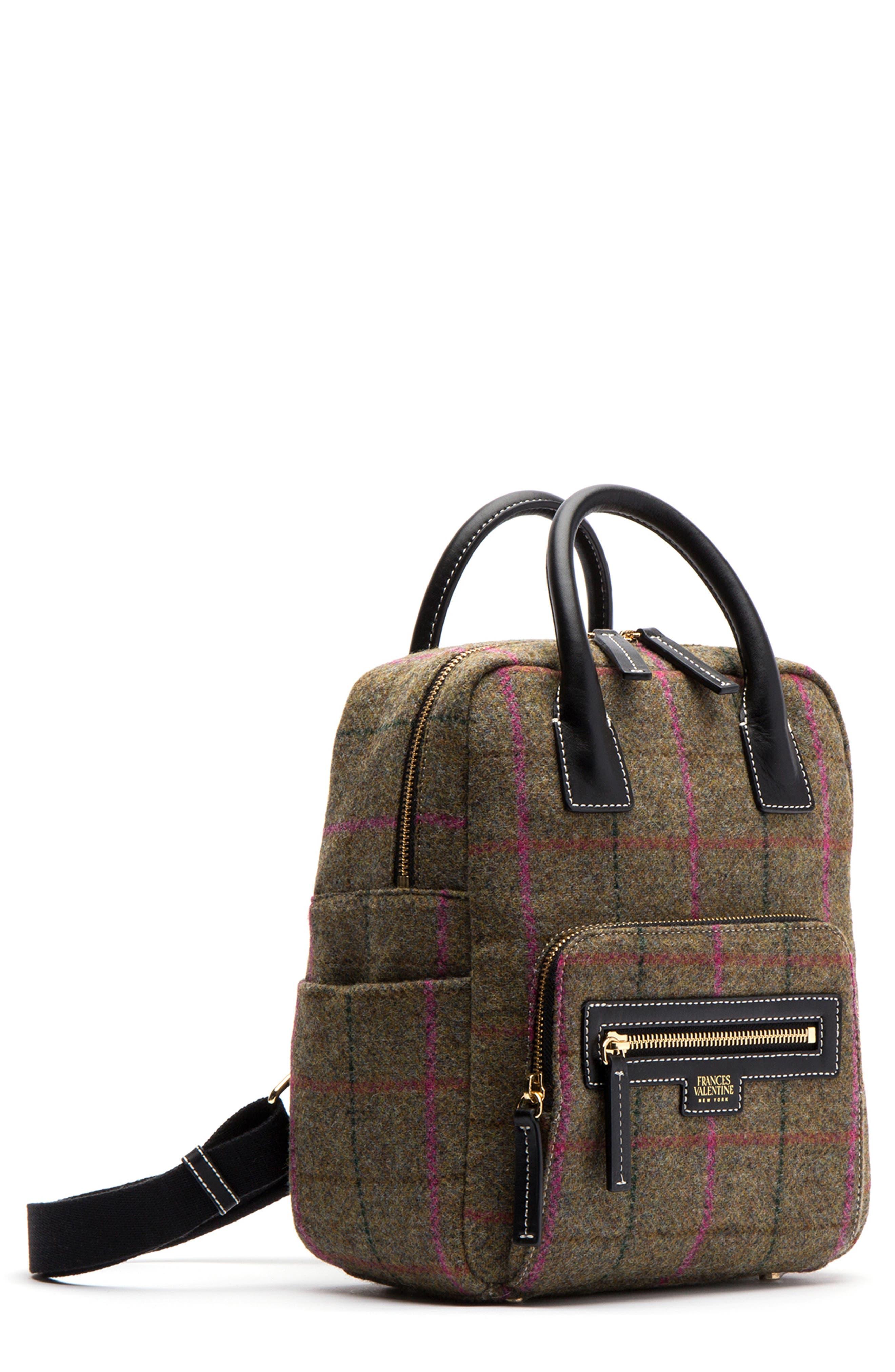 Plaid Wool Backpack,                             Main thumbnail 1, color,                             247