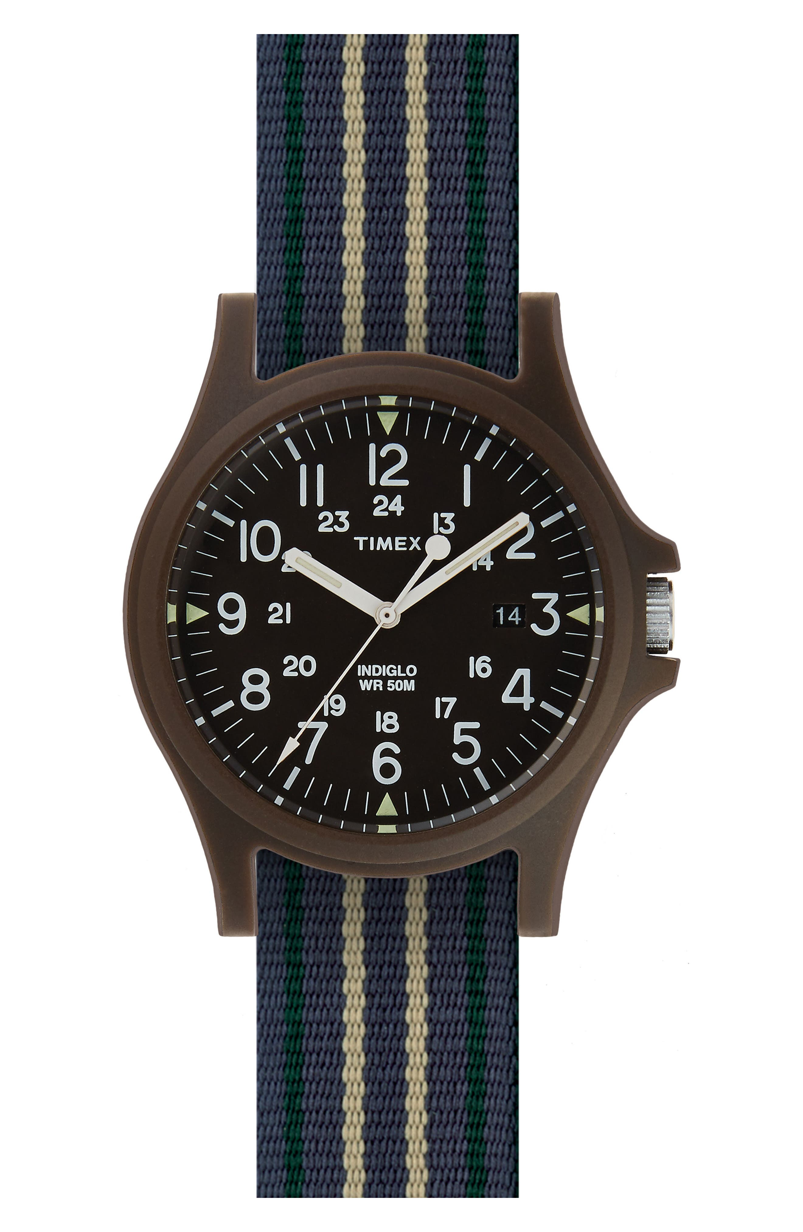 Acadia NATO Strap Watch, 40mm,                         Main,                         color, 400