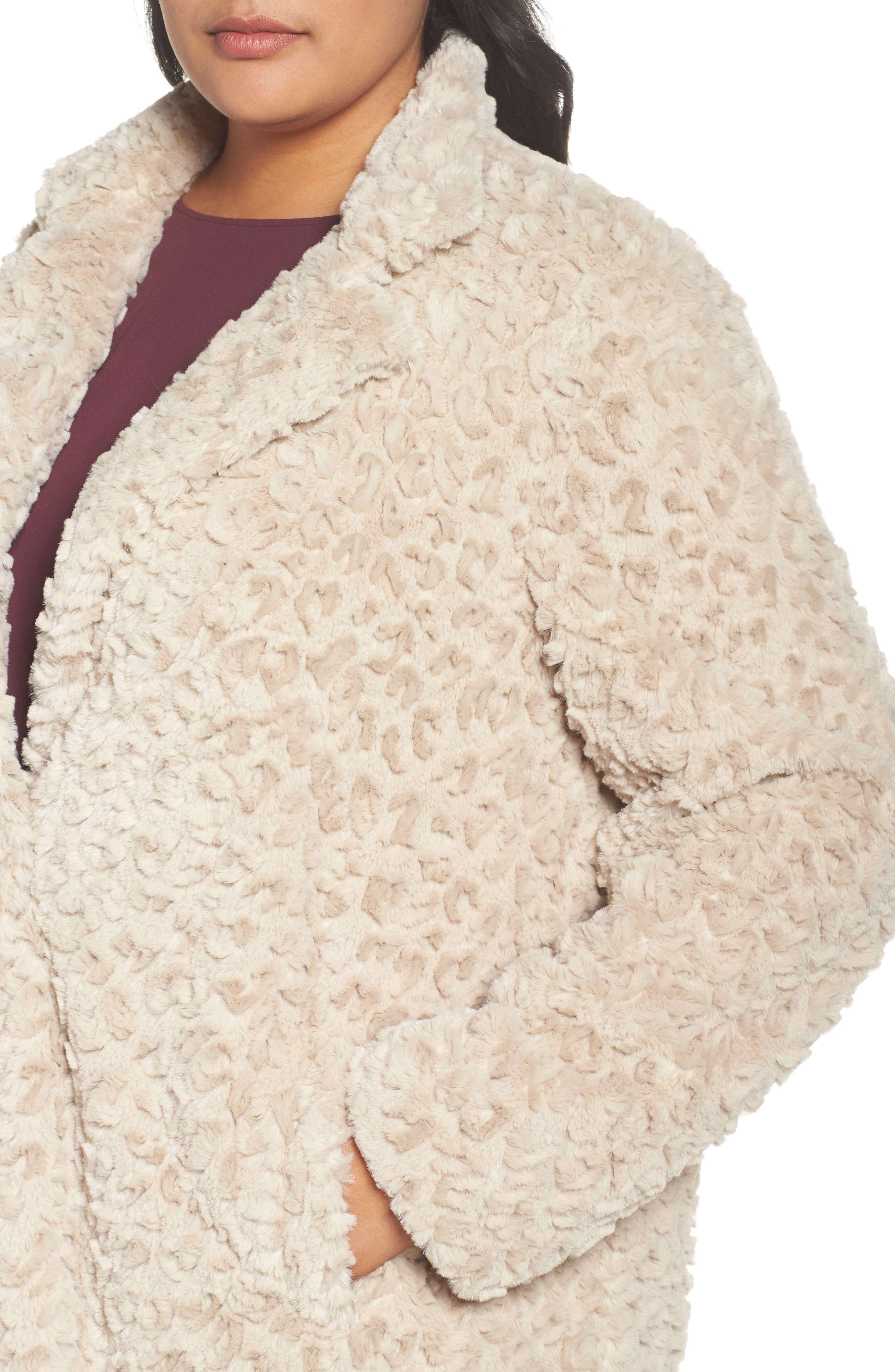 Faux Fur Jacket,                             Alternate thumbnail 4, color,                             260