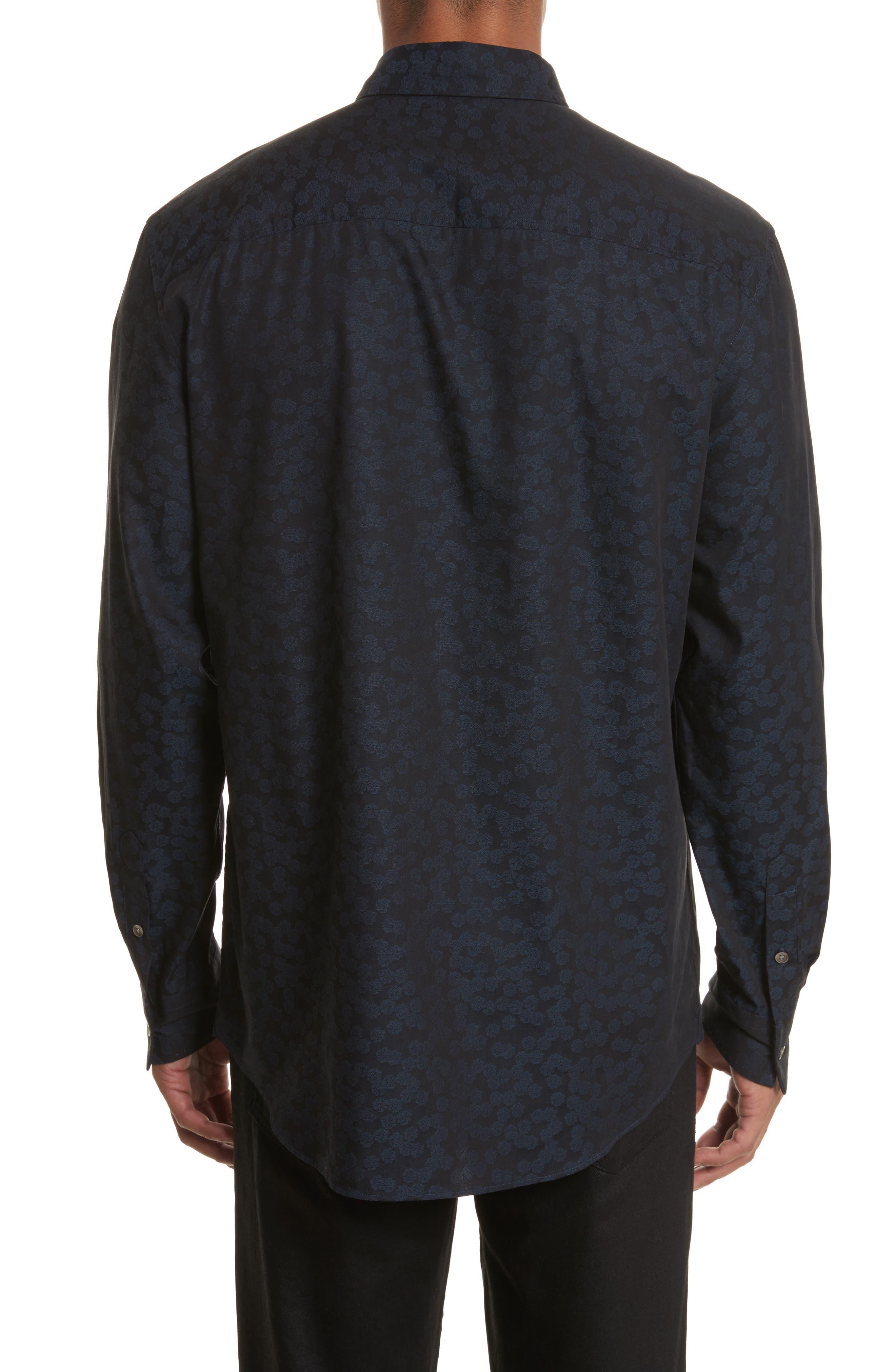 Classic Fit Jacquard Shirt,                             Alternate thumbnail 3, color,                             464