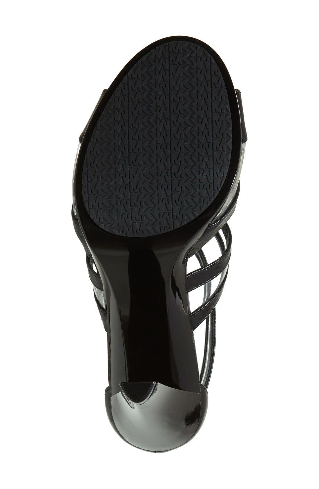 'Berkley' T-Strap Sandal,                             Alternate thumbnail 3, color,                             001