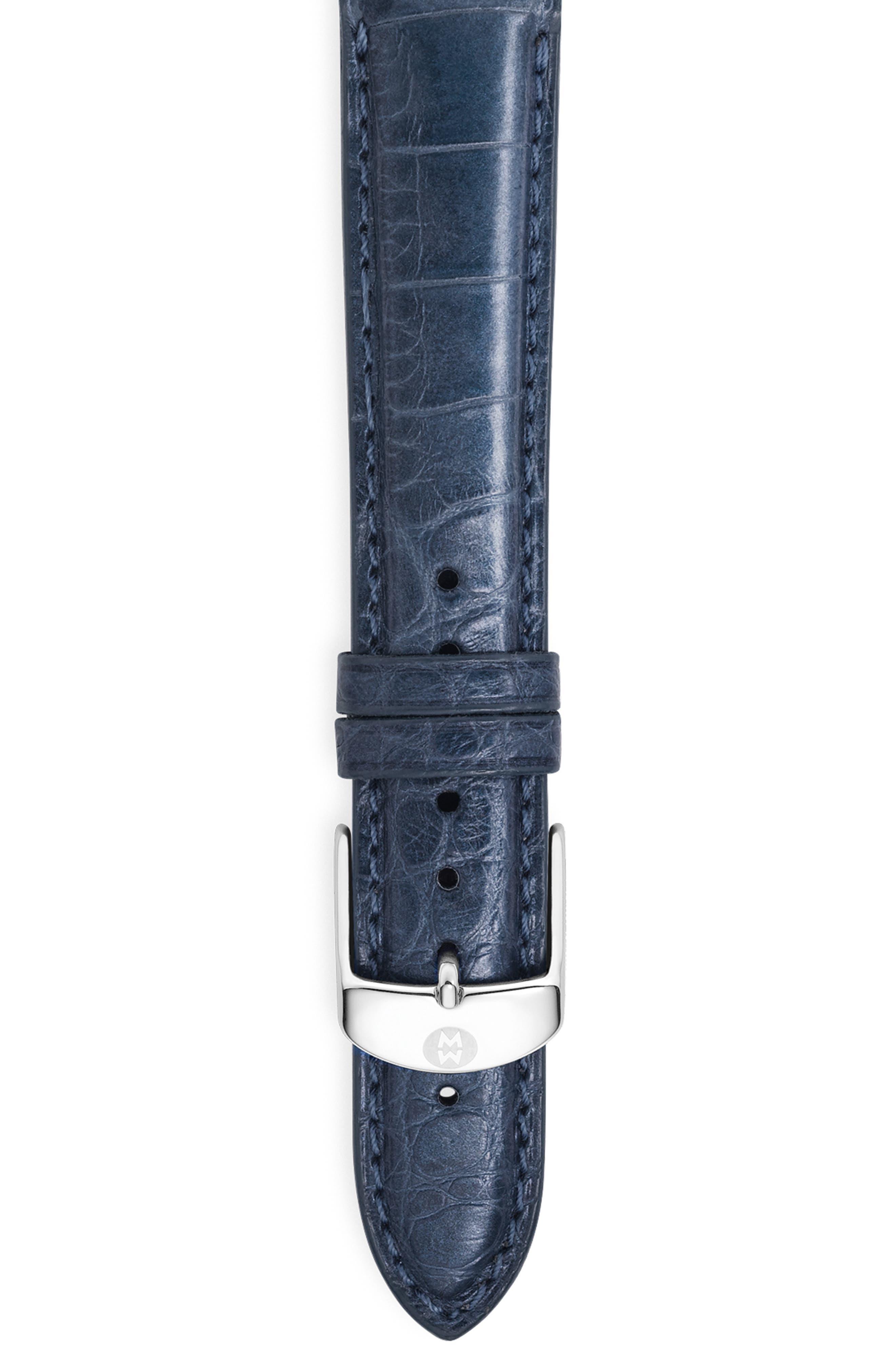 18mm Alligator Watch Strap,                             Alternate thumbnail 59, color,