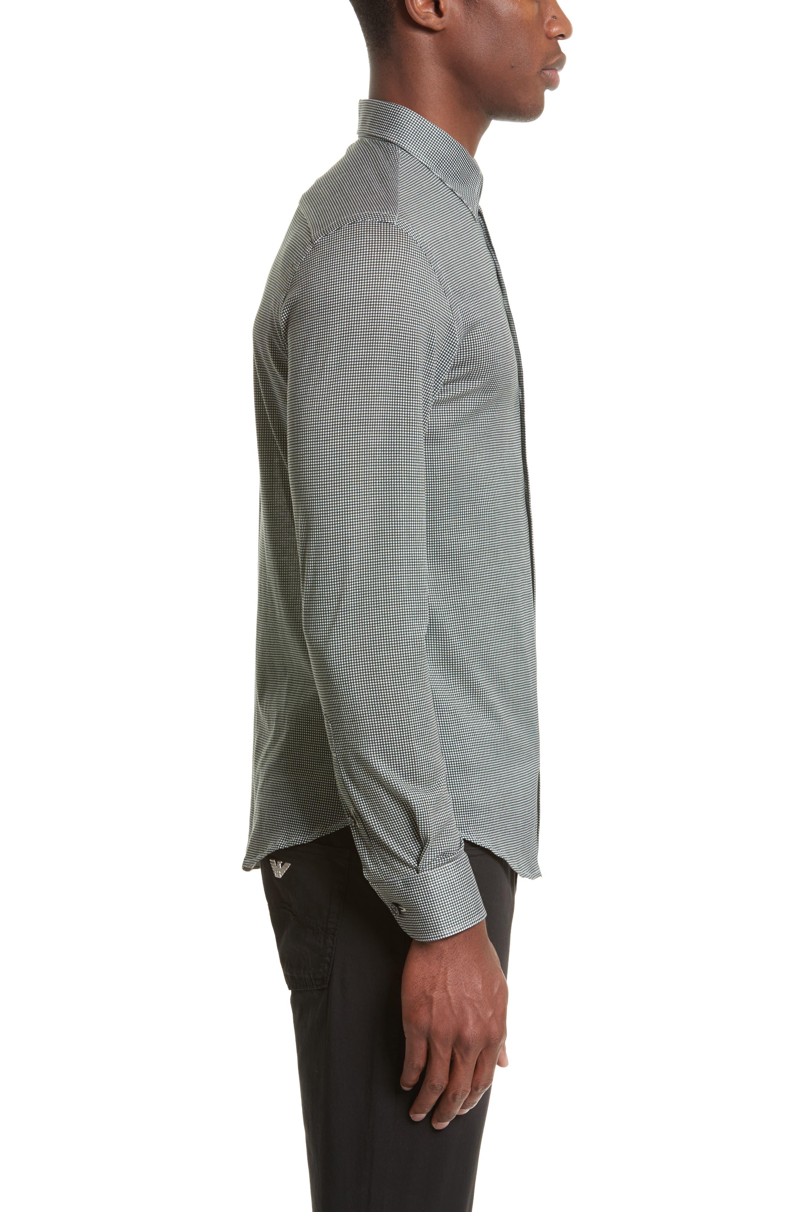 Gingham Sport Shirt,                             Alternate thumbnail 3, color,                             389
