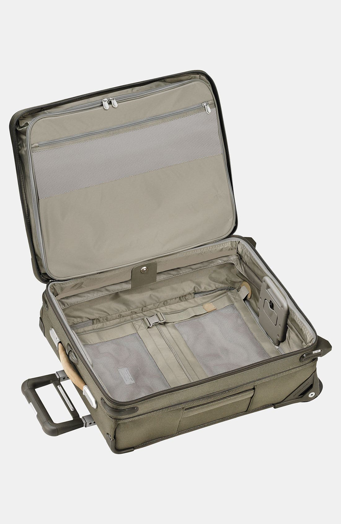 Baseline International 22-Inch Expandable Rolling Carry-On,                             Alternate thumbnail 3, color,                             OLIVE