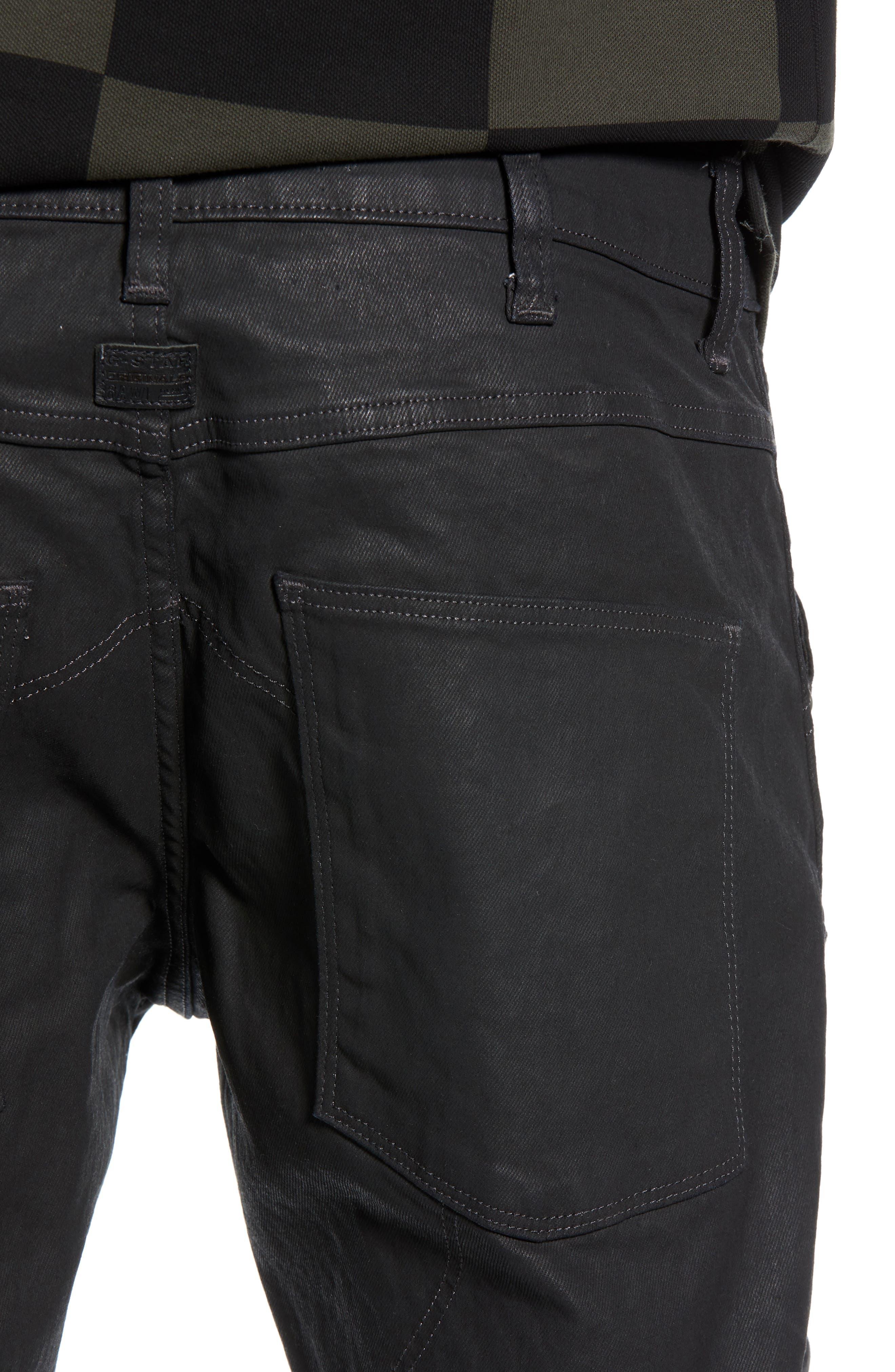 3D Coated Slim Jeans,                             Alternate thumbnail 4, color,                             3D DARK AGED