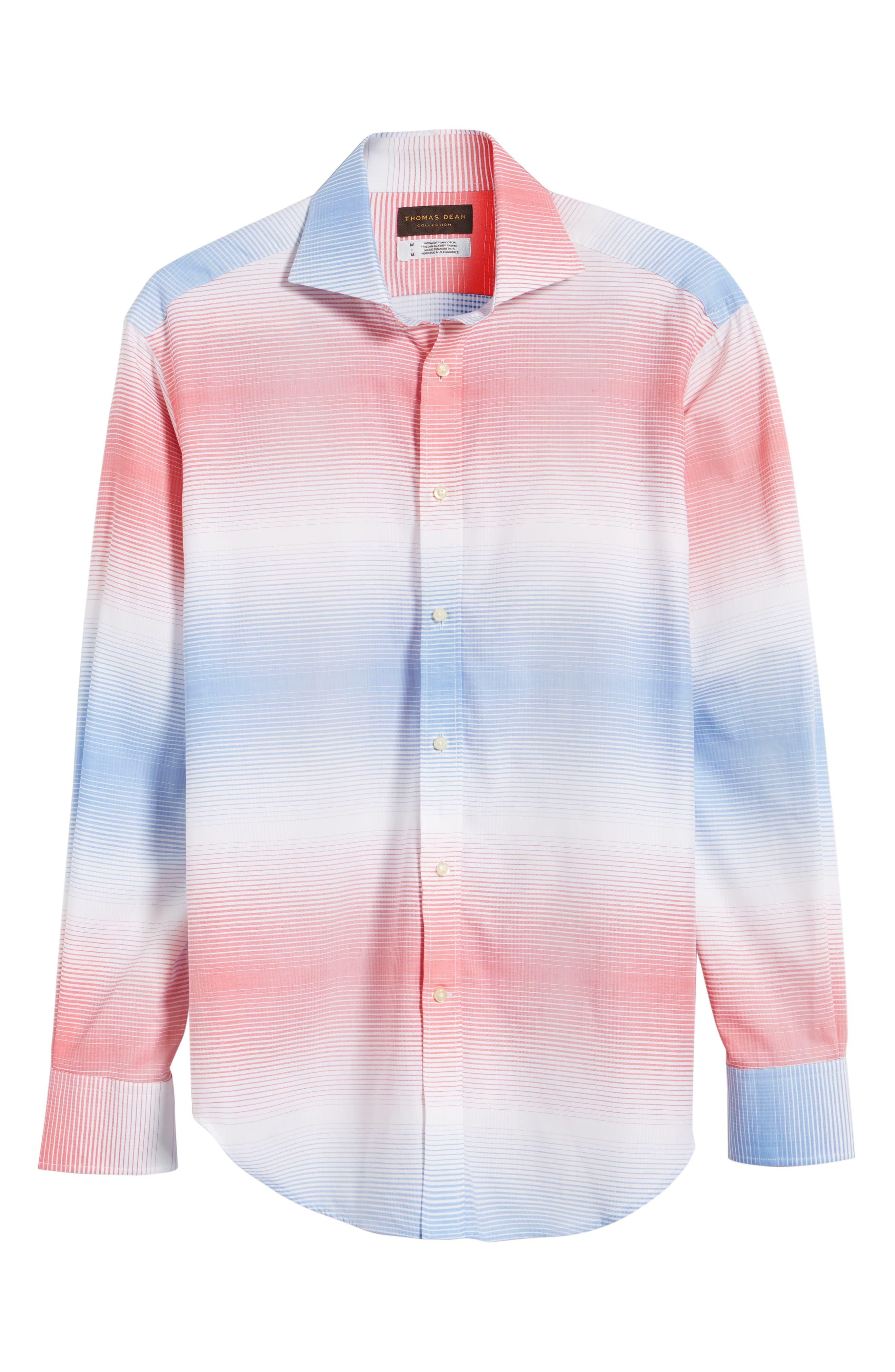 Classic Fit Graduated Check Sport Shirt,                             Alternate thumbnail 6, color,                             420