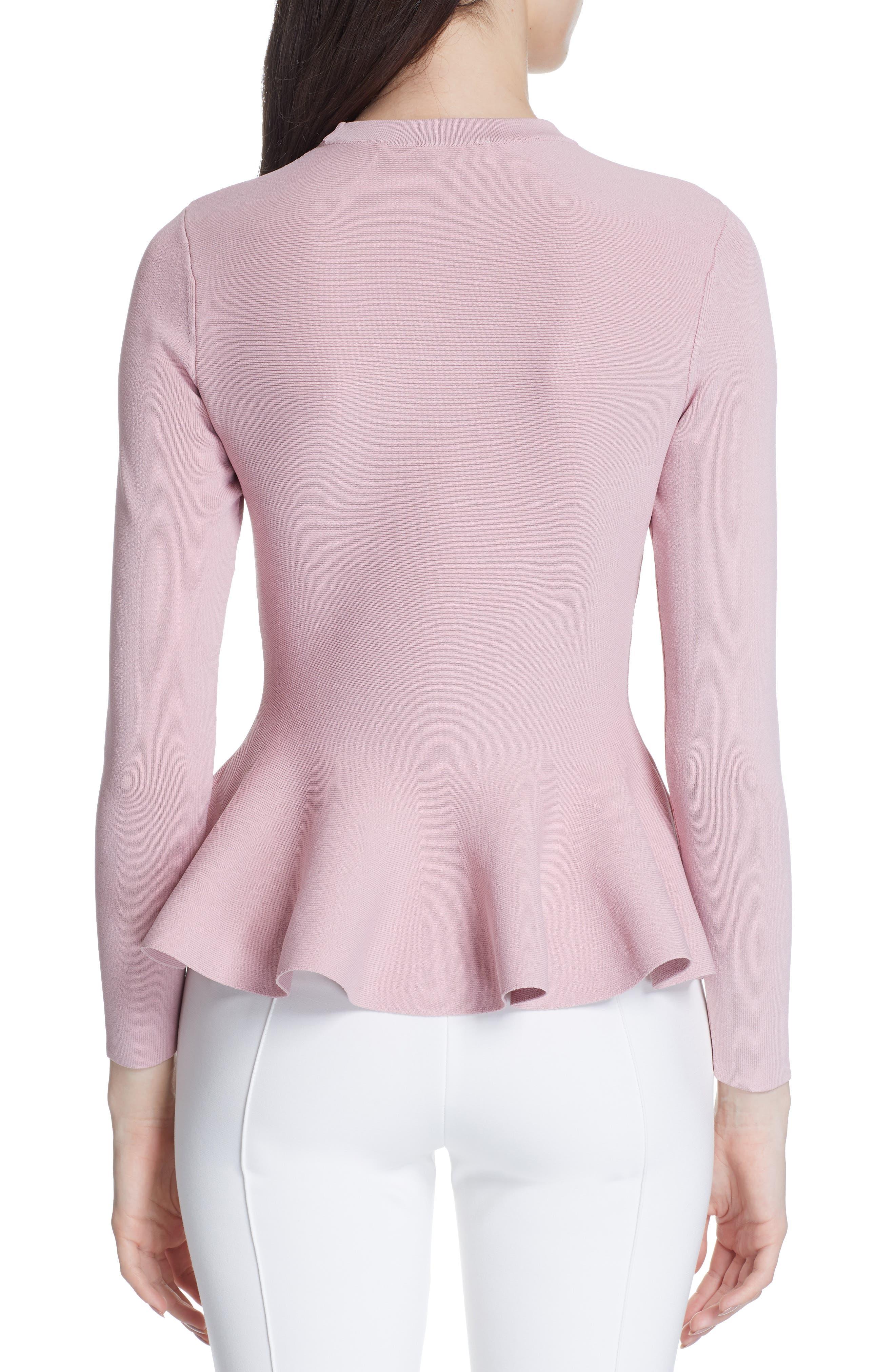 Hinlia Peplum Sweater,                             Alternate thumbnail 2, color,                             DUSKY PINK