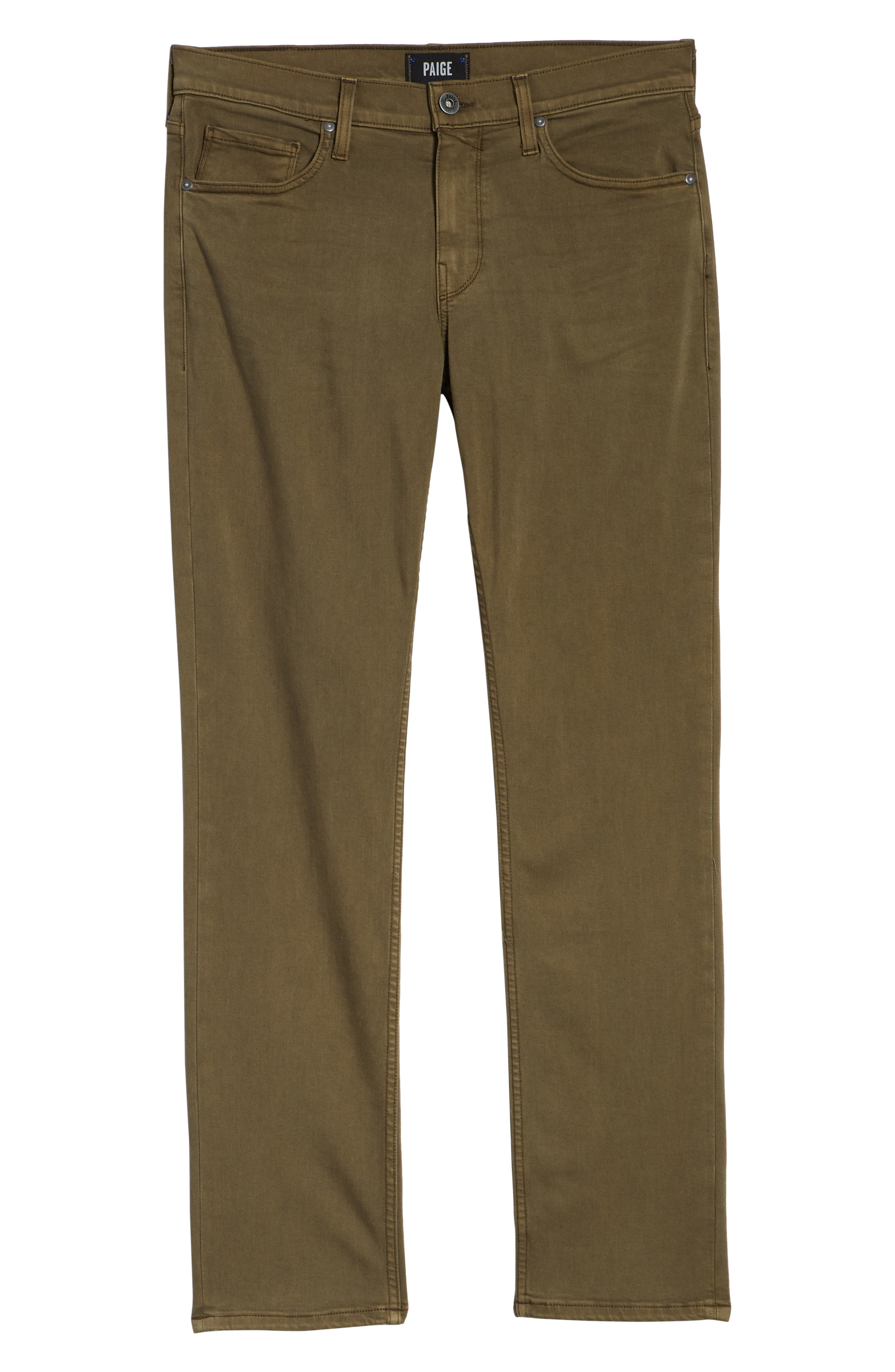 Transcend - Normandie Straight Leg Jeans,                             Alternate thumbnail 6, color,                             VINTAGE ARTICHOKE