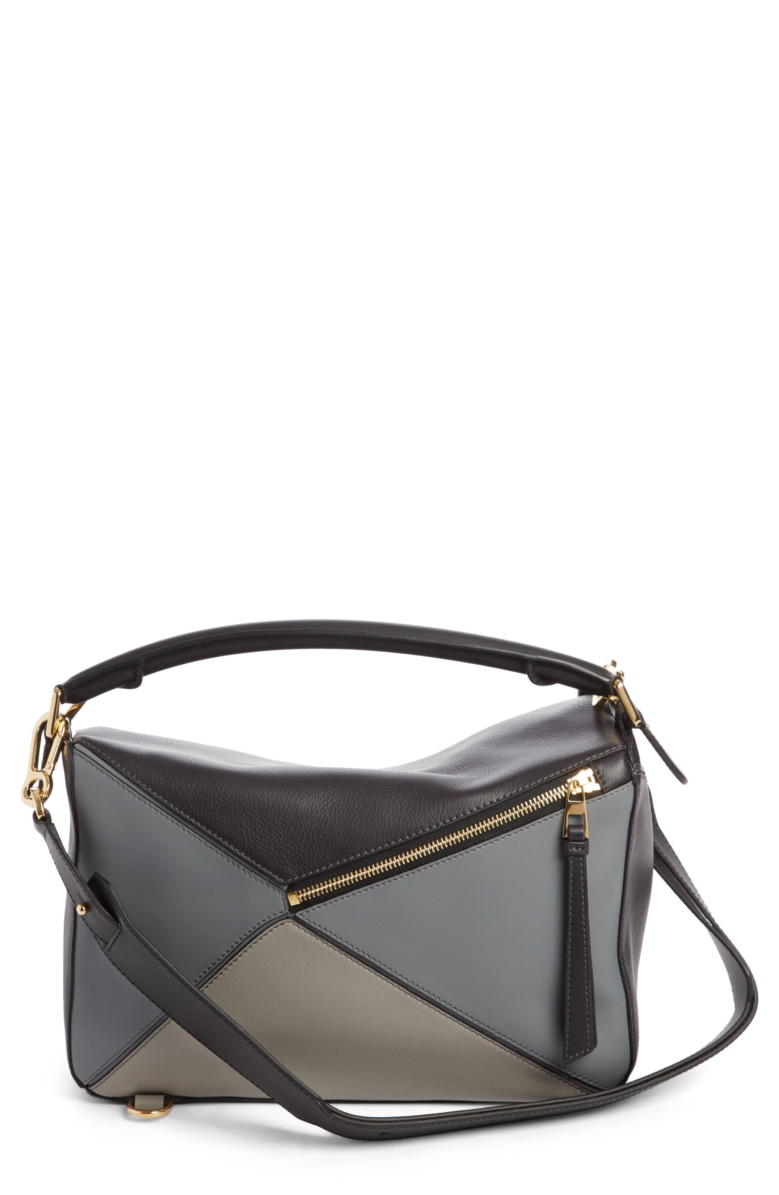 Medium Puzzle Colorblock Leather Shoulder Bag,                             Main thumbnail 1, color,                             070