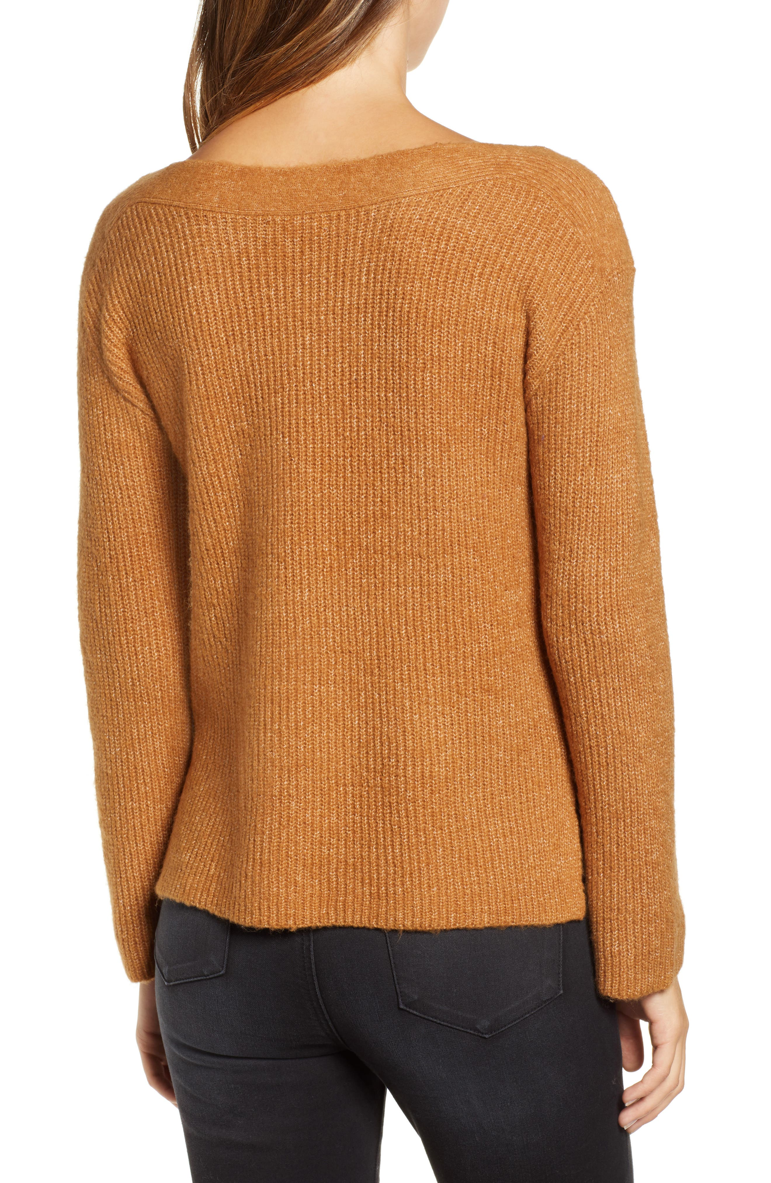 Cozy Femme Pullover Sweater,                             Alternate thumbnail 2, color,                             TAN DALE