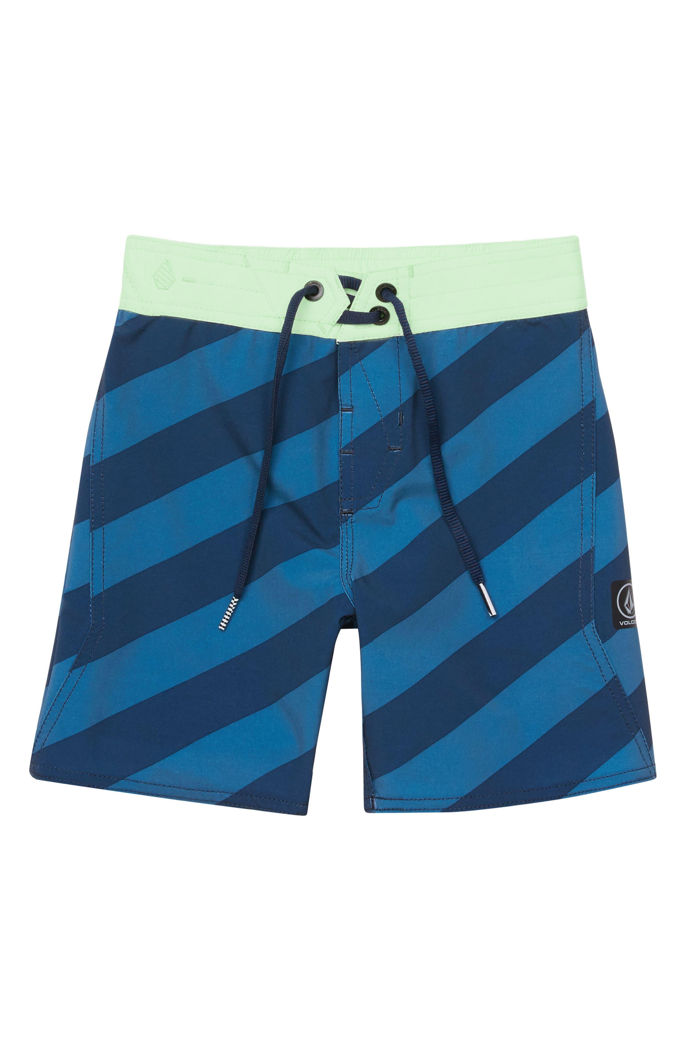 Stripey Board Shorts,                         Main,                         color, INDIGO