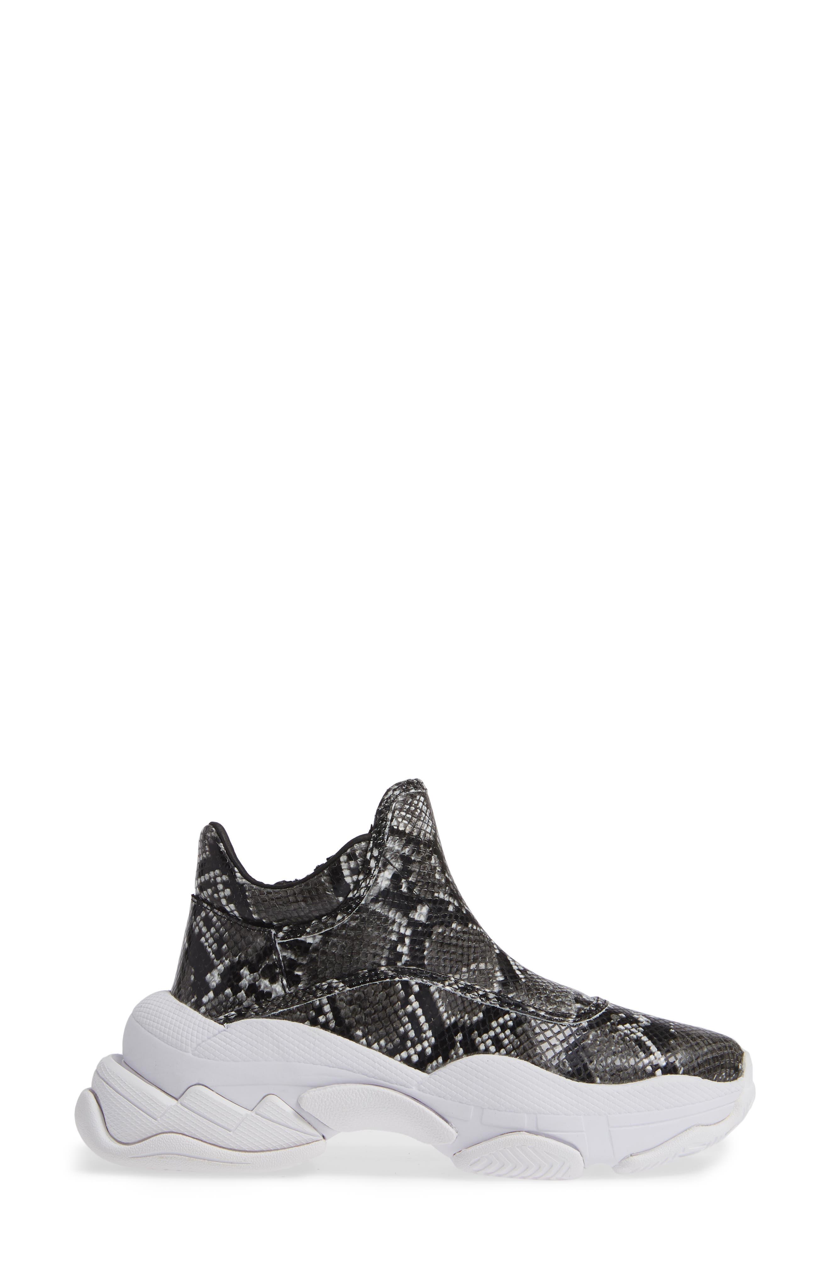 CTRL-DEL Sneaker,                             Alternate thumbnail 3, color,                             GREY BLACK SNAKE