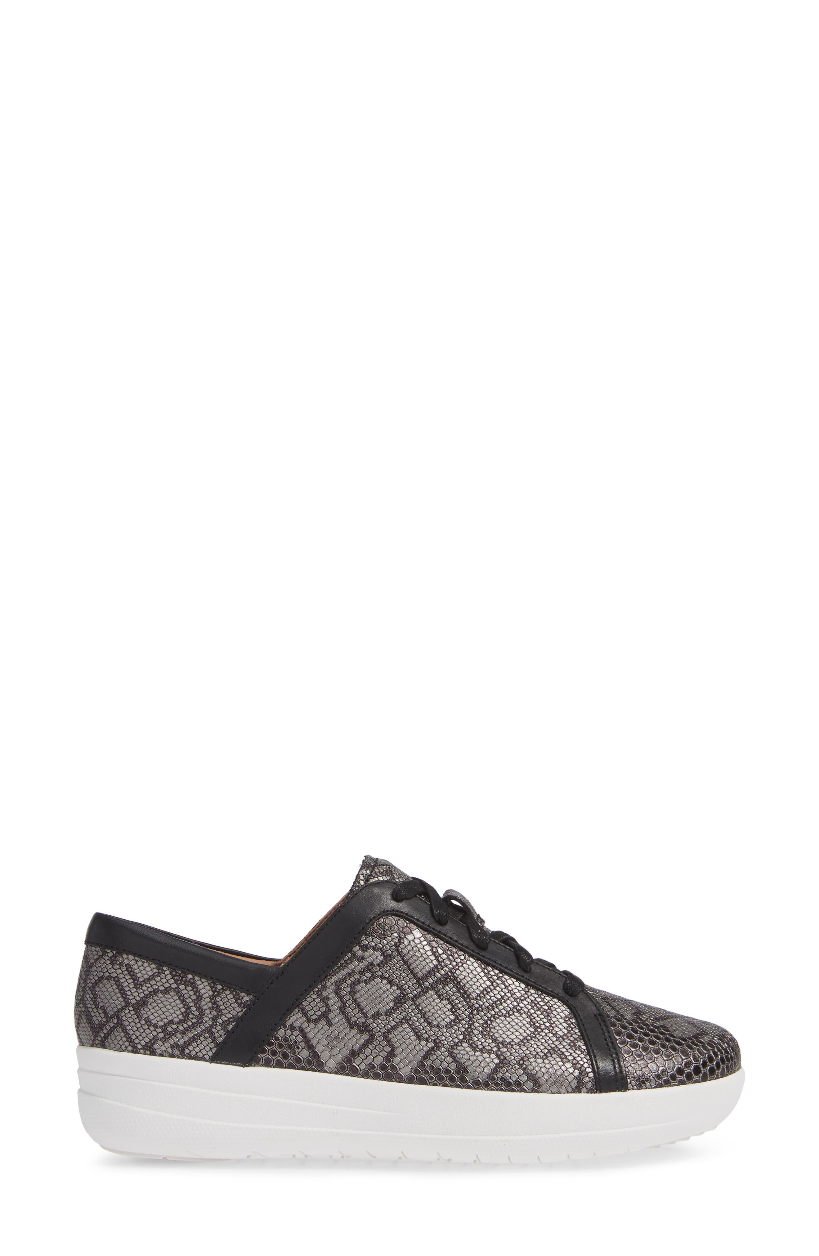 FITFLOP,                             F-Sporty II Sneaker,                             Alternate thumbnail 3, color,                             001