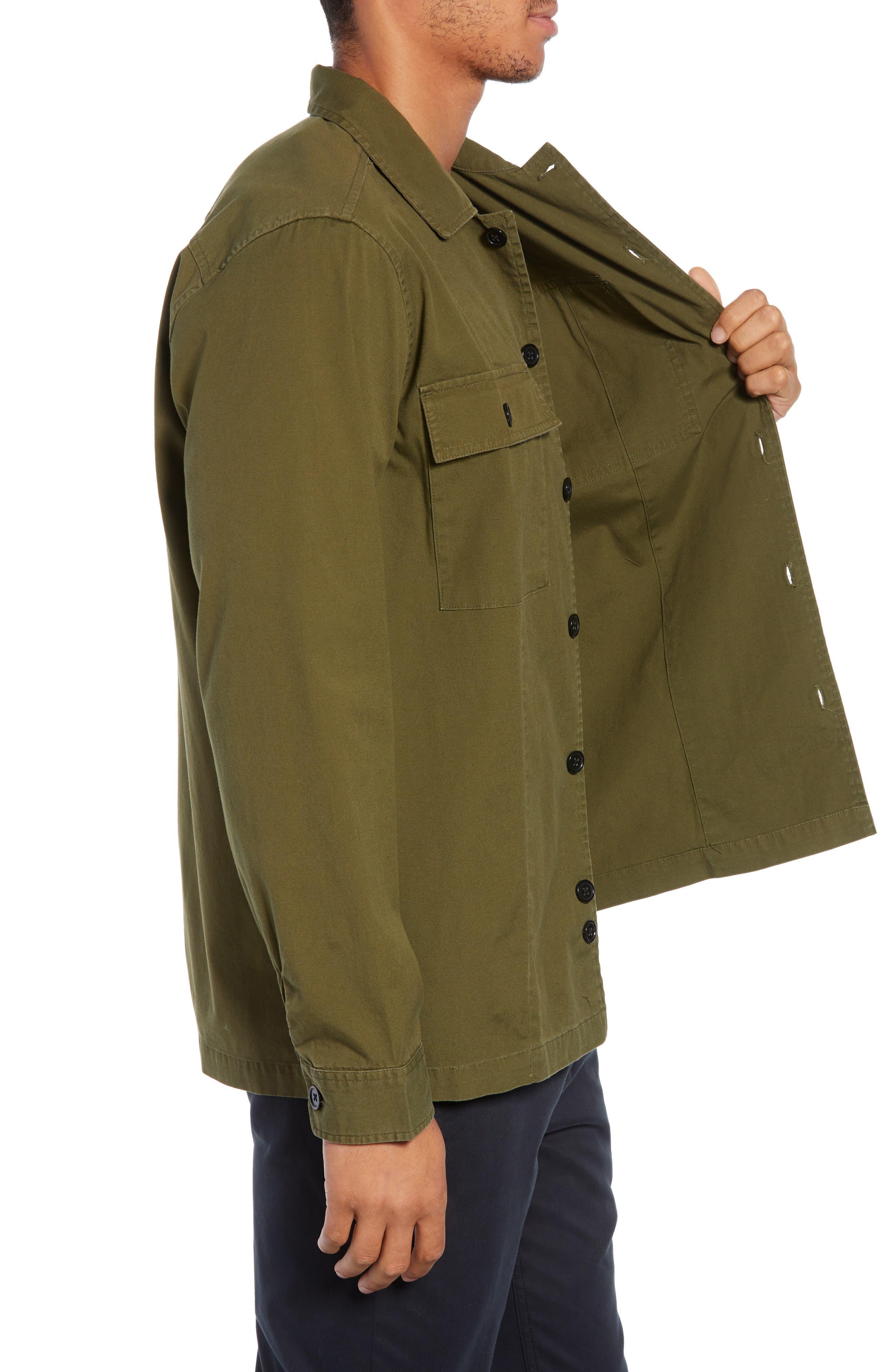 Lt. Dan Military Shirt Jacket,                             Alternate thumbnail 3, color,                             OLIVE CANVAS