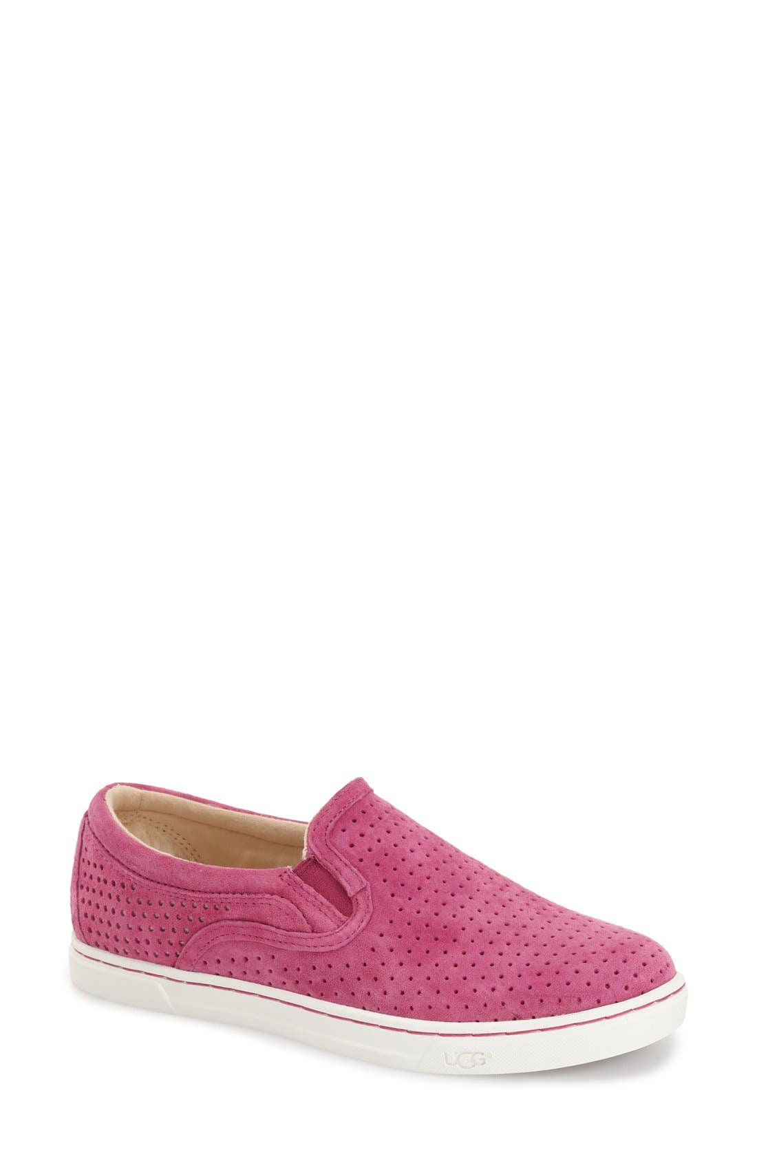 'Fierce Geo' Perforated Slip-On Sneaker,                             Main thumbnail 3, color,