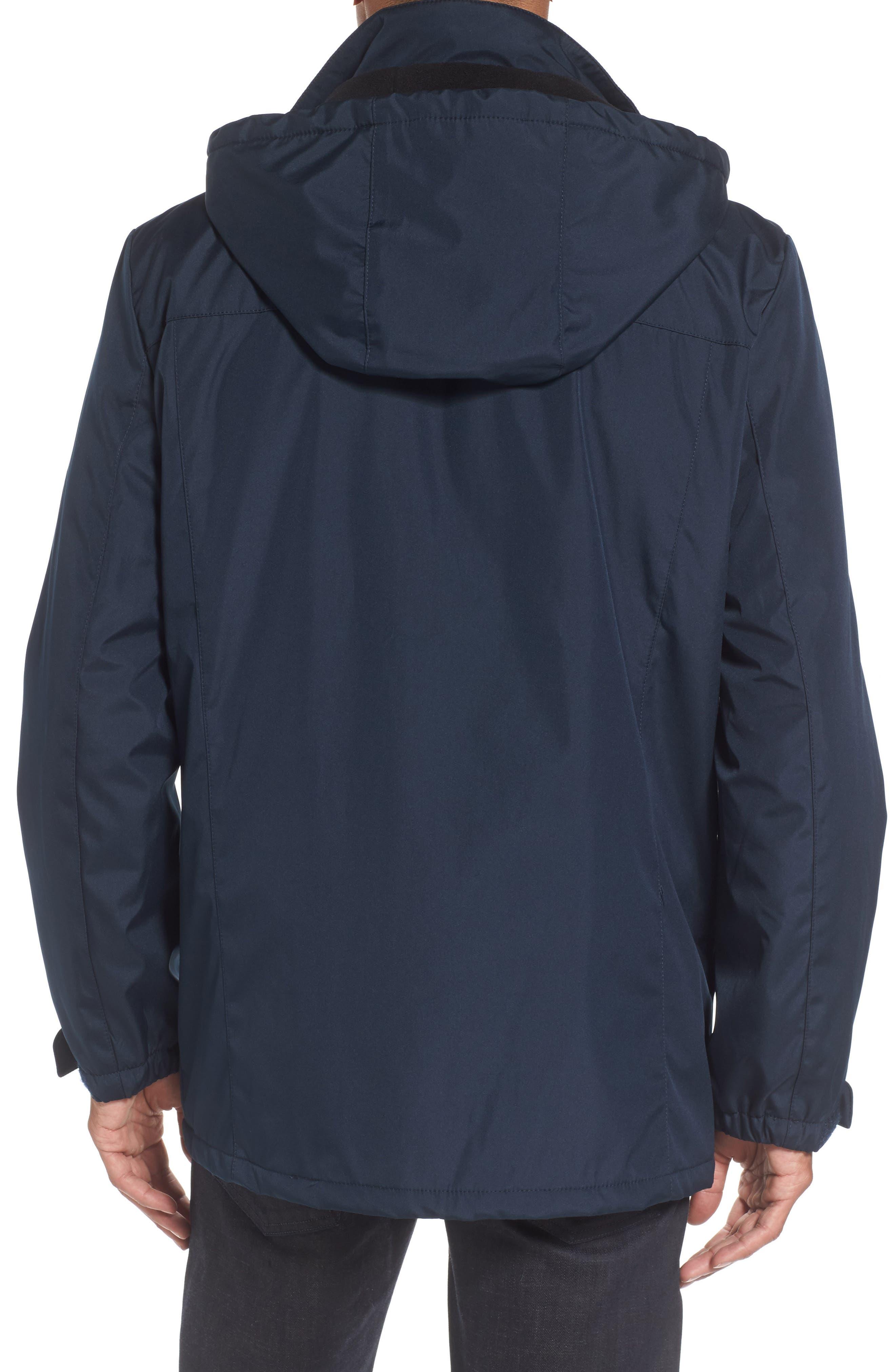 Hooded Jacket with Inset Fleece Bib,                             Alternate thumbnail 8, color,