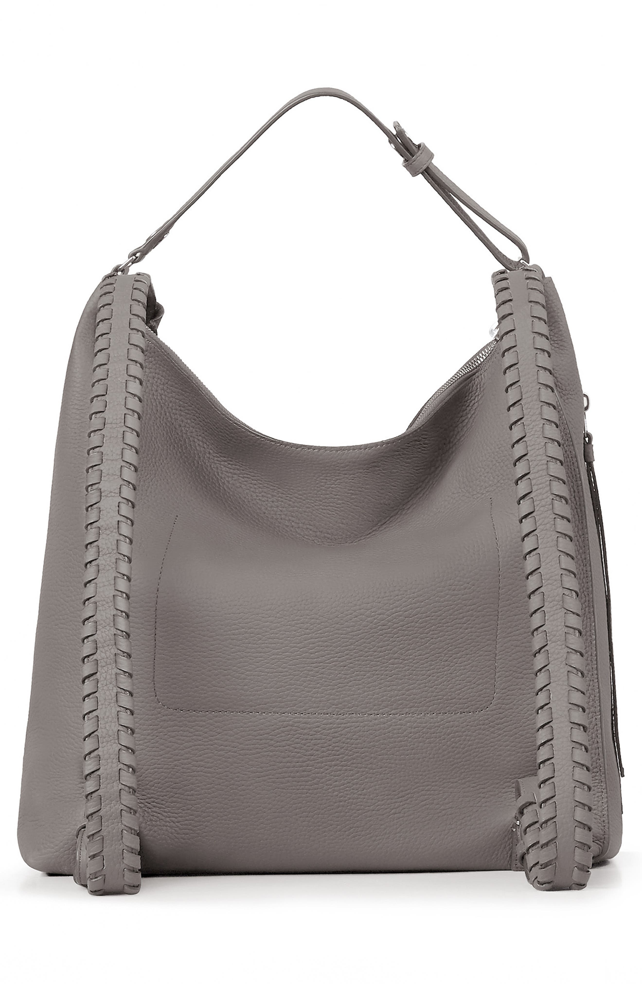 Kita Convertible Leather Backpack,                             Alternate thumbnail 2, color,                             STORM GREY