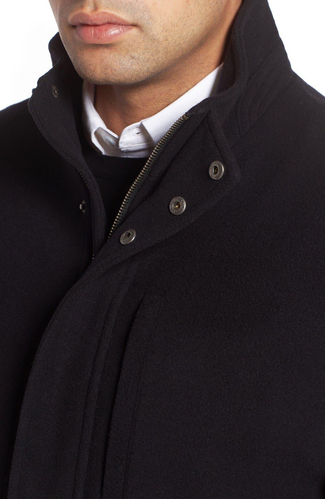 Wool Blend Car Coat,                             Alternate thumbnail 7, color,