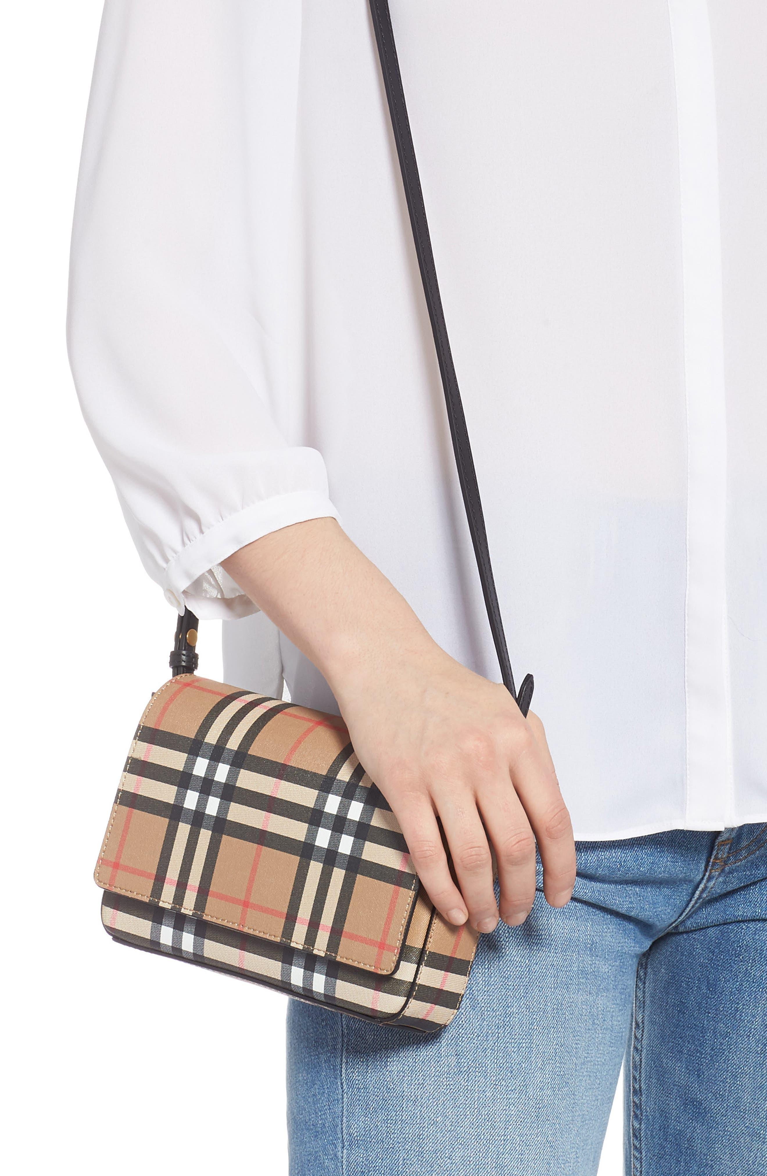 Hampshire Vintage Check Crossbody Bag,                             Alternate thumbnail 2, color,                             BLACK