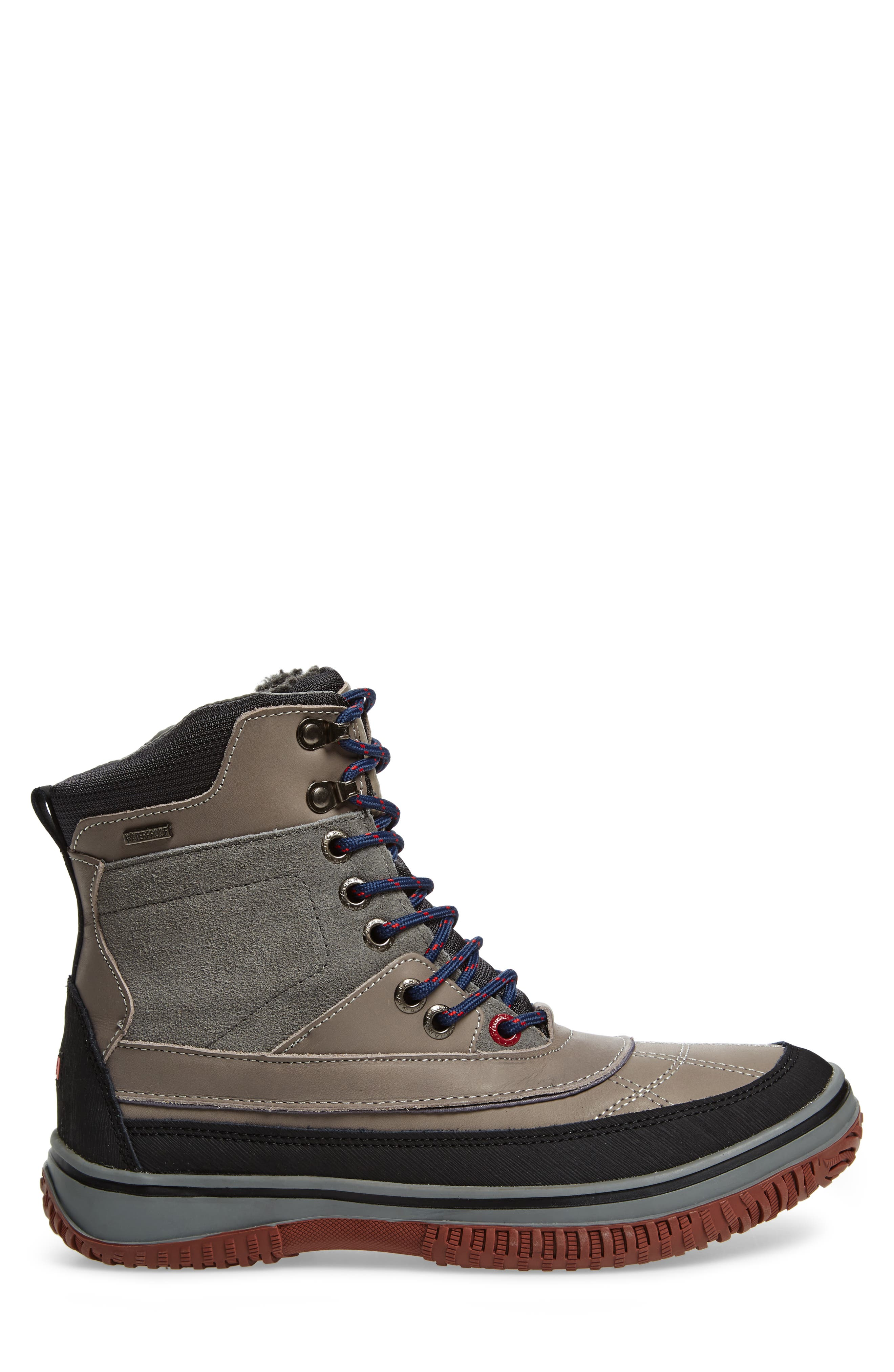 Gaspar Waterproof Winter Boot,                             Alternate thumbnail 3, color,                             GREY LEATHER
