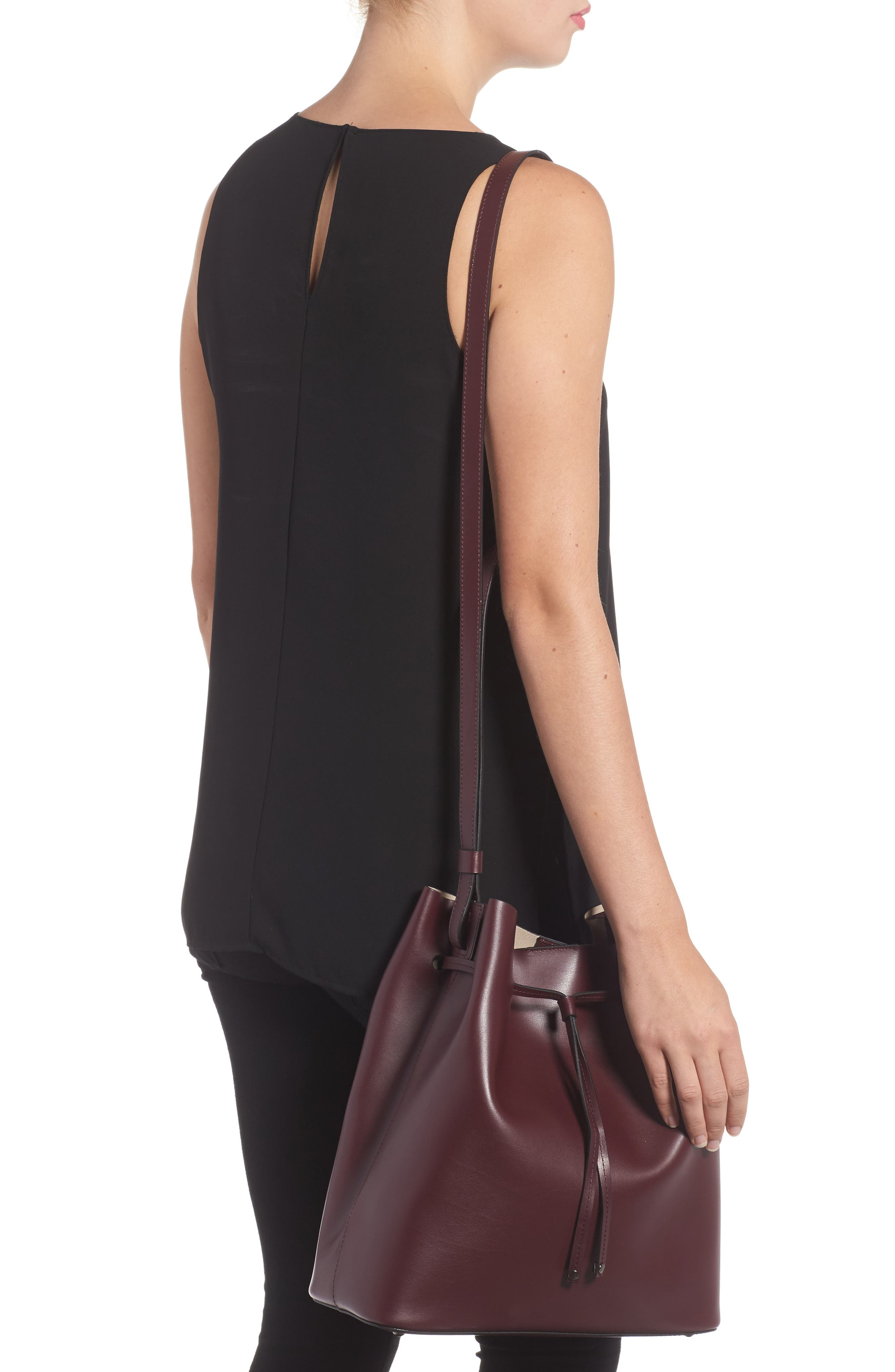 Silicon Valley Large Halina Leather Bucket Bag,                             Alternate thumbnail 6, color,