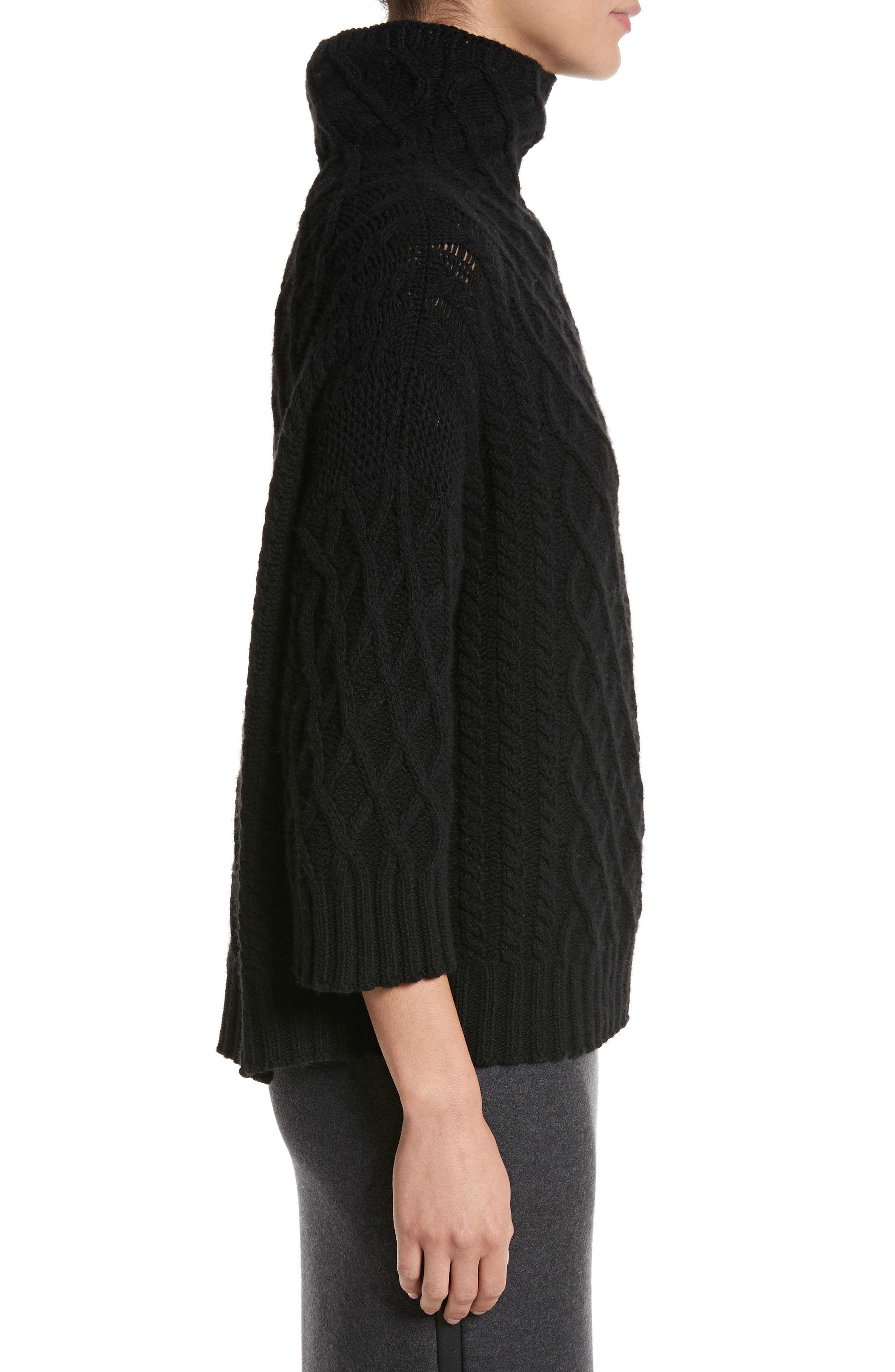 Cantone Wool & Cashmere Funnel Neck Sweater,                             Alternate thumbnail 3, color,