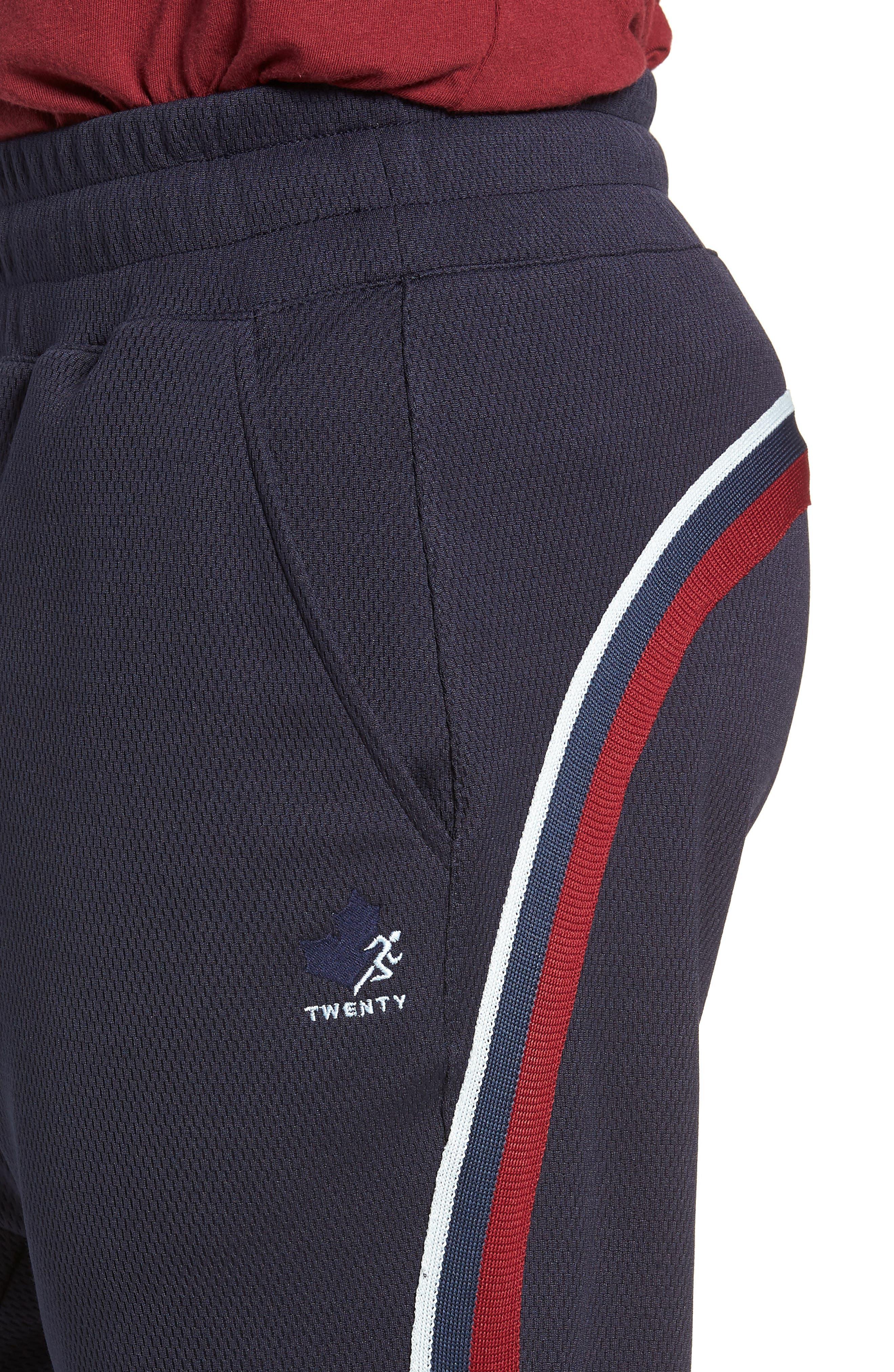 Slim Fit Track Pants,                             Alternate thumbnail 4, color,                             ADMIRAL